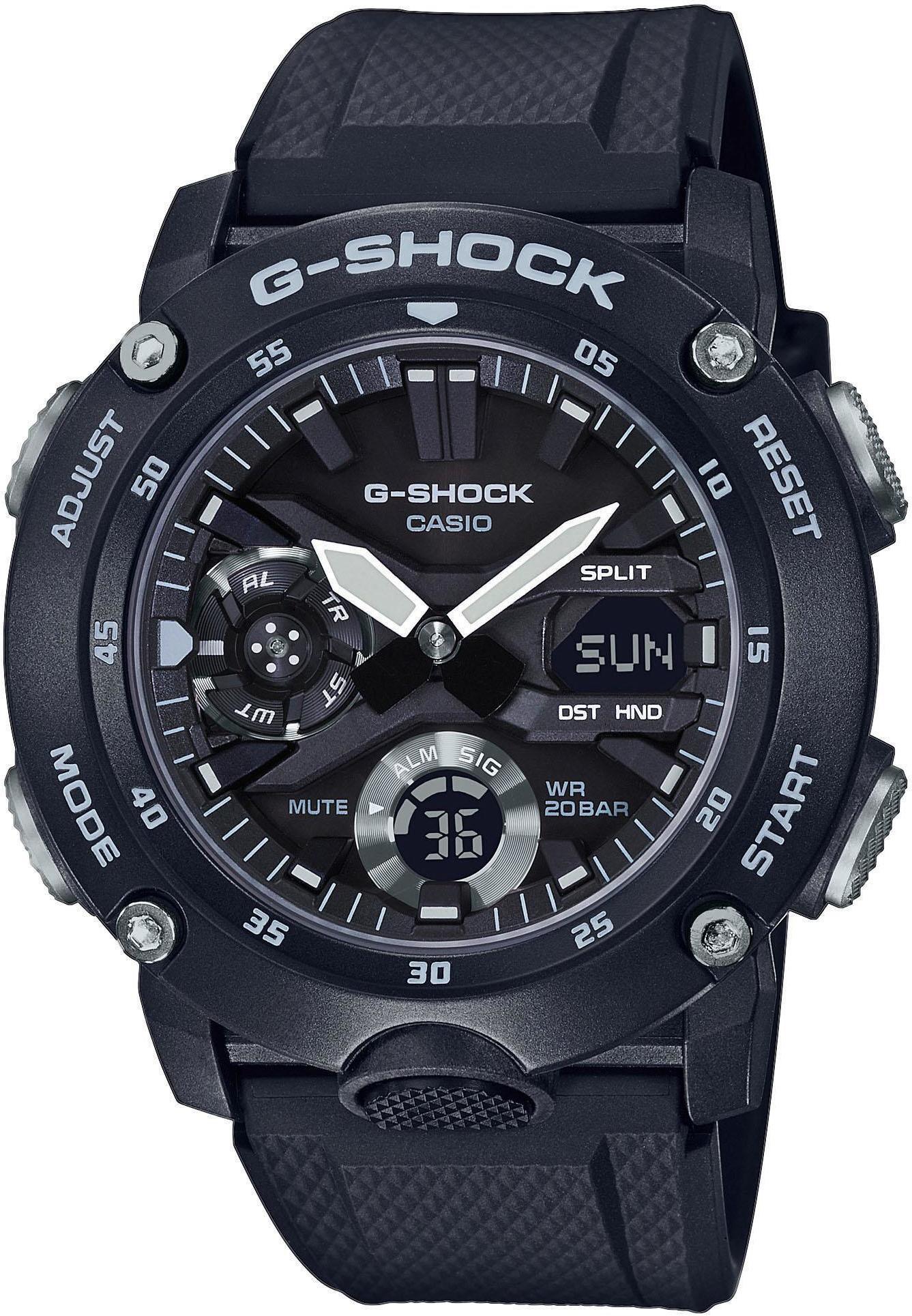 CASIO G-SHOCK Classic GA-2000S-1AER Ur Herrer, black (2019)   Sports watches