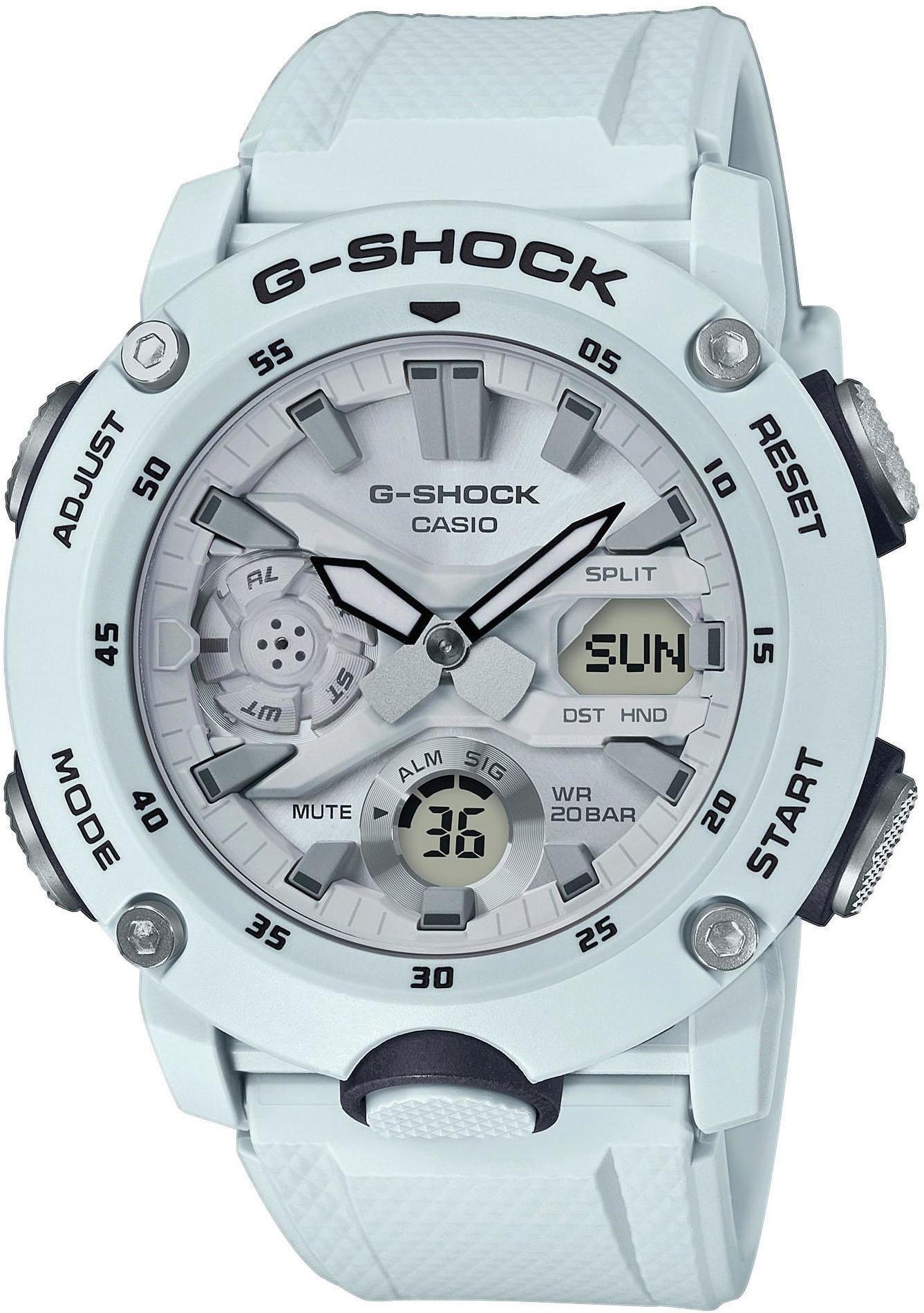 CASIO G-SHOCK Classic GA-2000S-7AER Ur Herrer, white (2019)   Sports watches