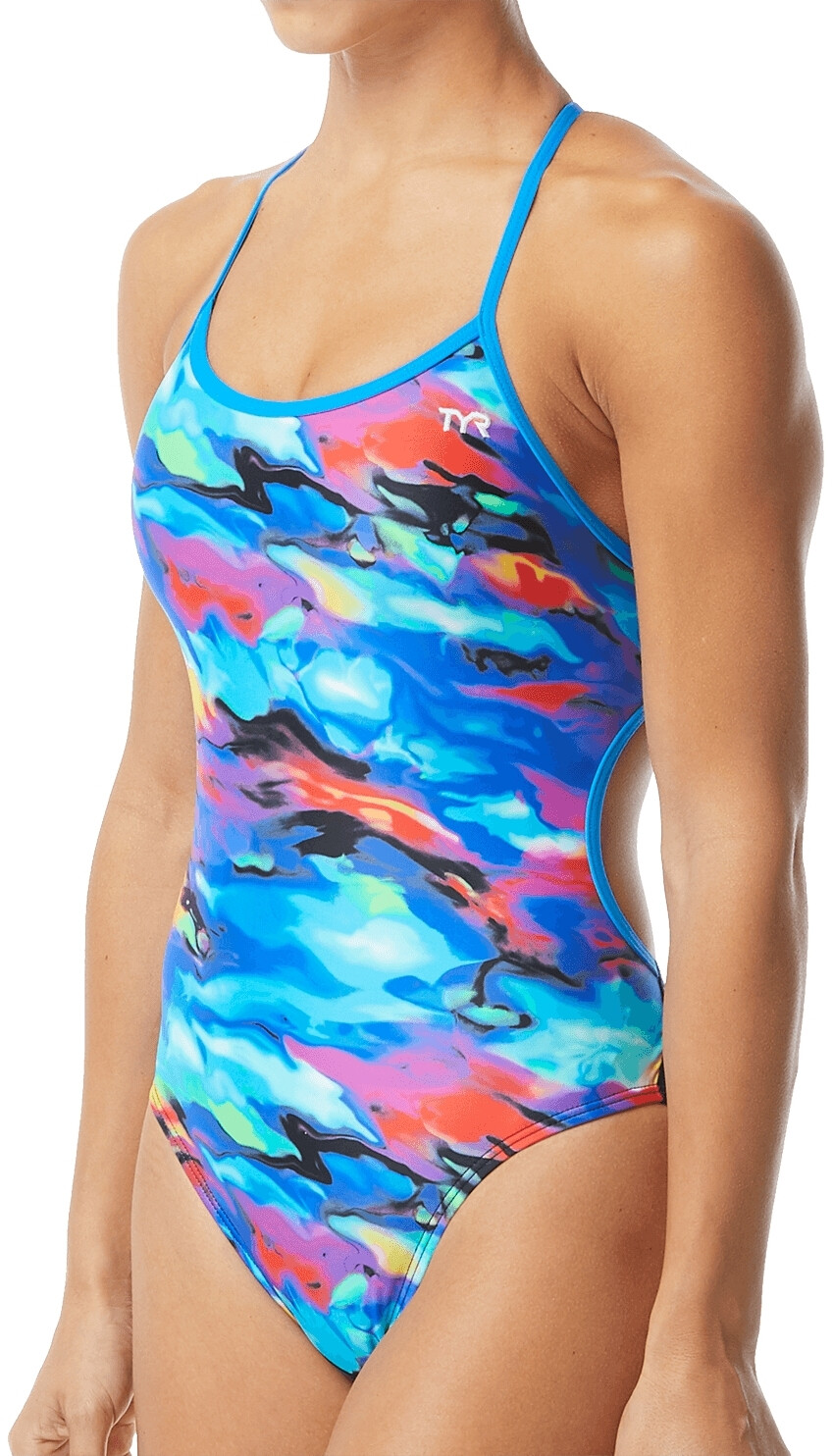 TYR Synthesis Badedragt Damer, blue/multi (2019) | swim_clothes