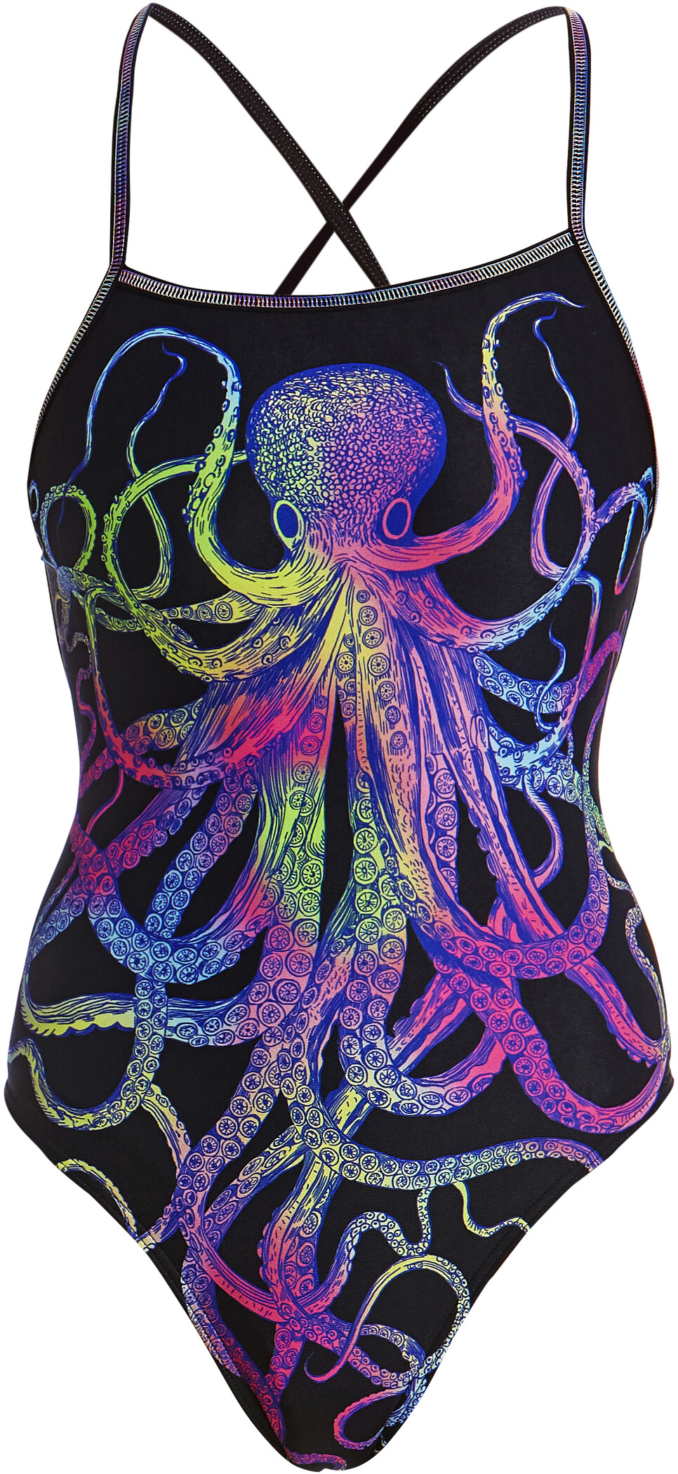 Funkita Single Strap One Piece Badedragt Damer, octopussy (2019) | swim_clothes
