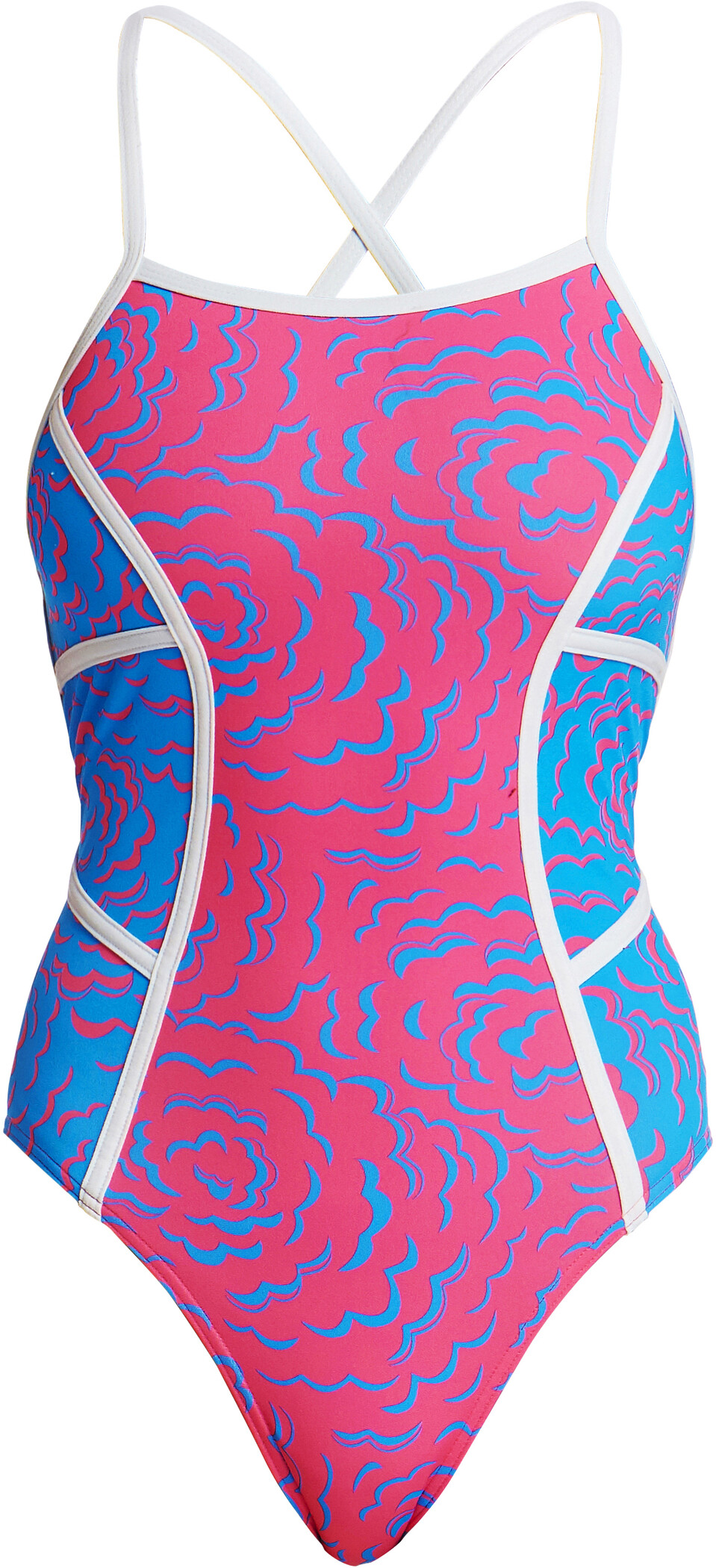 Funkita Colour Block One Piece Badedragt Damer, in the cloud (2019) | swim_clothes