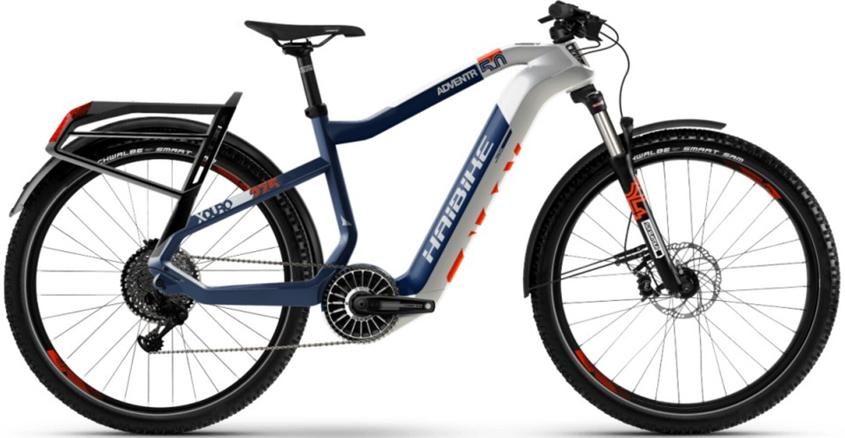 HAIBIKE XDURO Adventr 5.0, white/blue/orange (2020) | City
