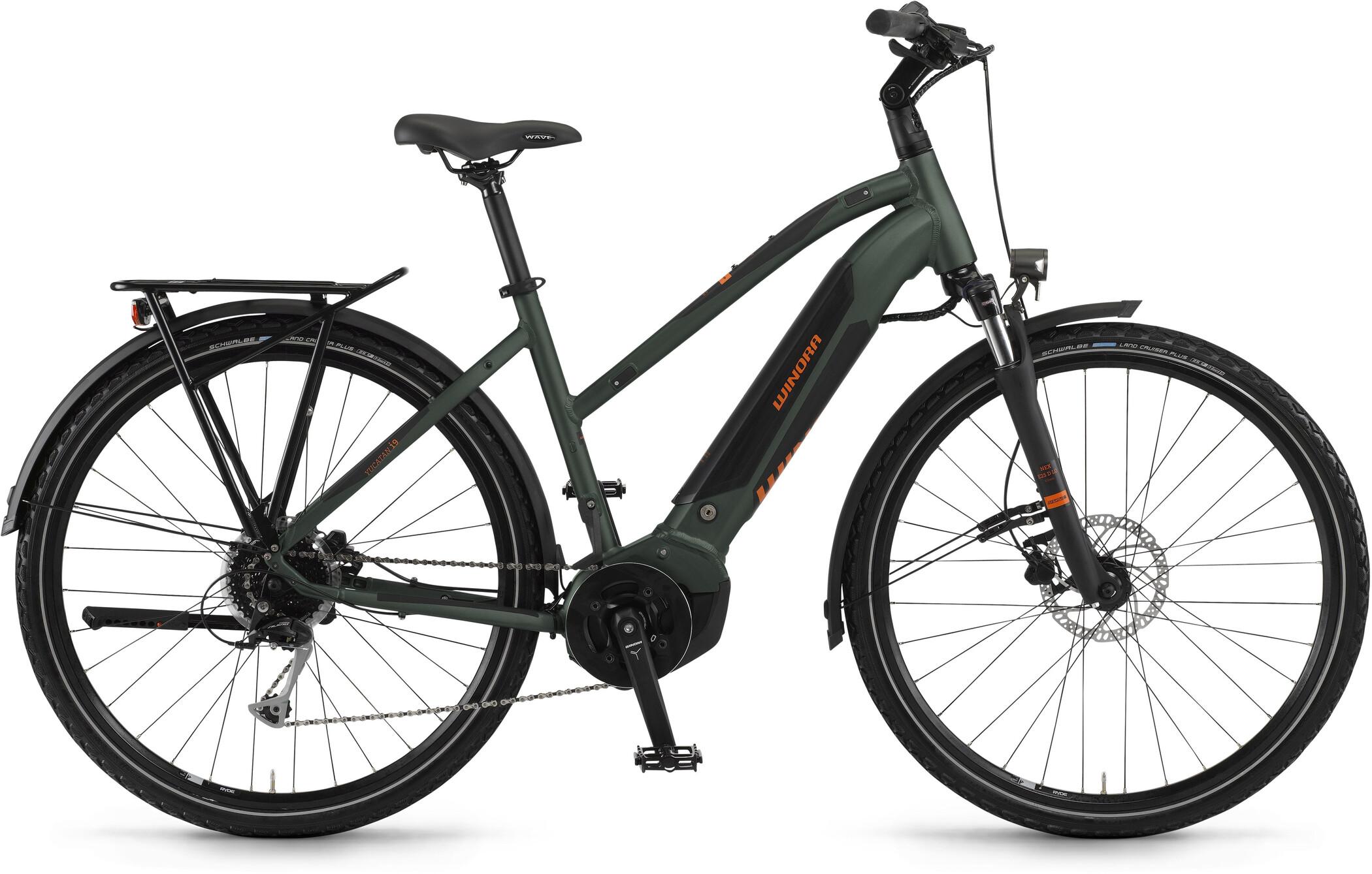 Winora Yucatan i9 Damer, olive matte (2020)   City-cykler