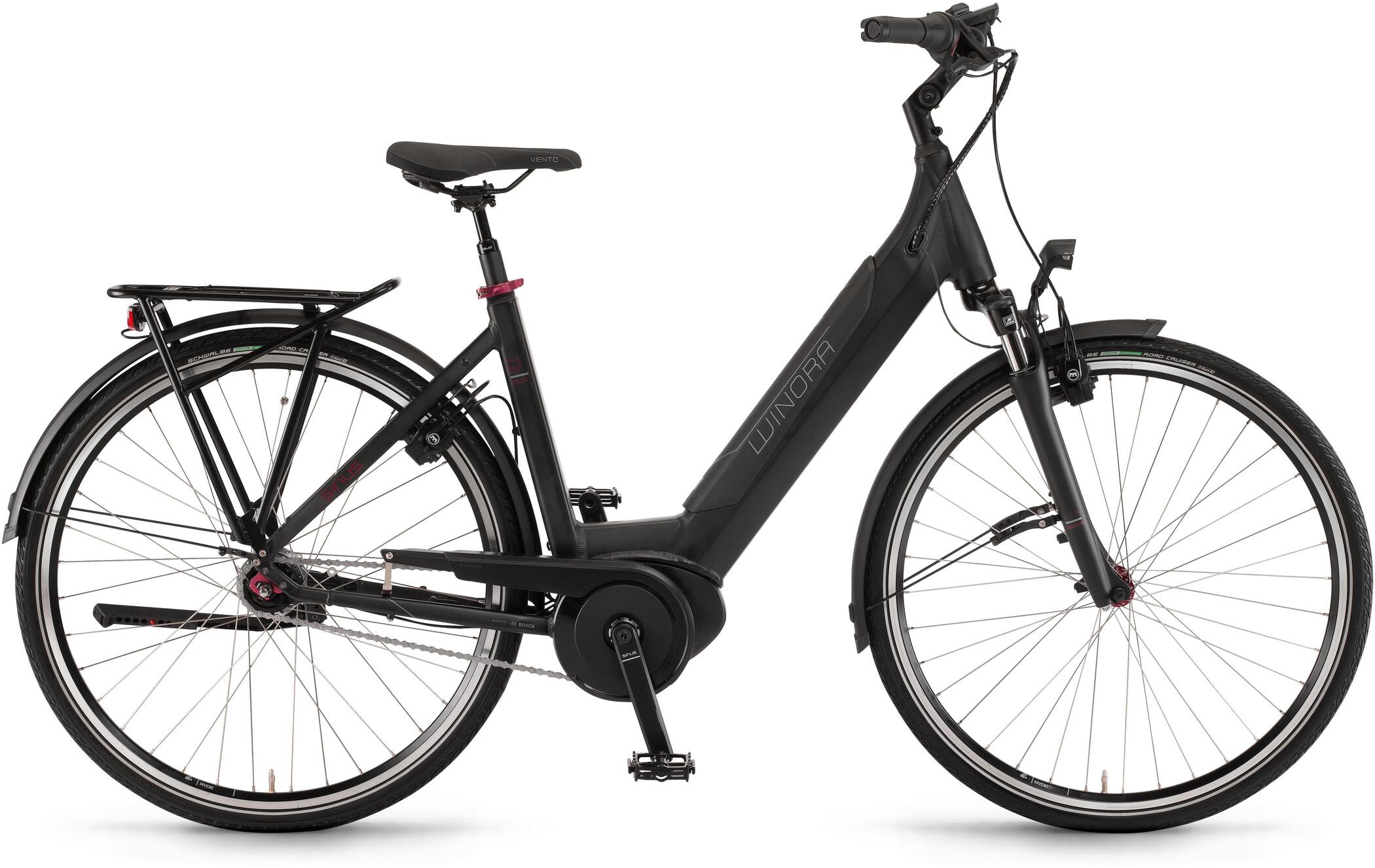 Winora Sinus iN7 Wave, black matte (2020)   City-cykler