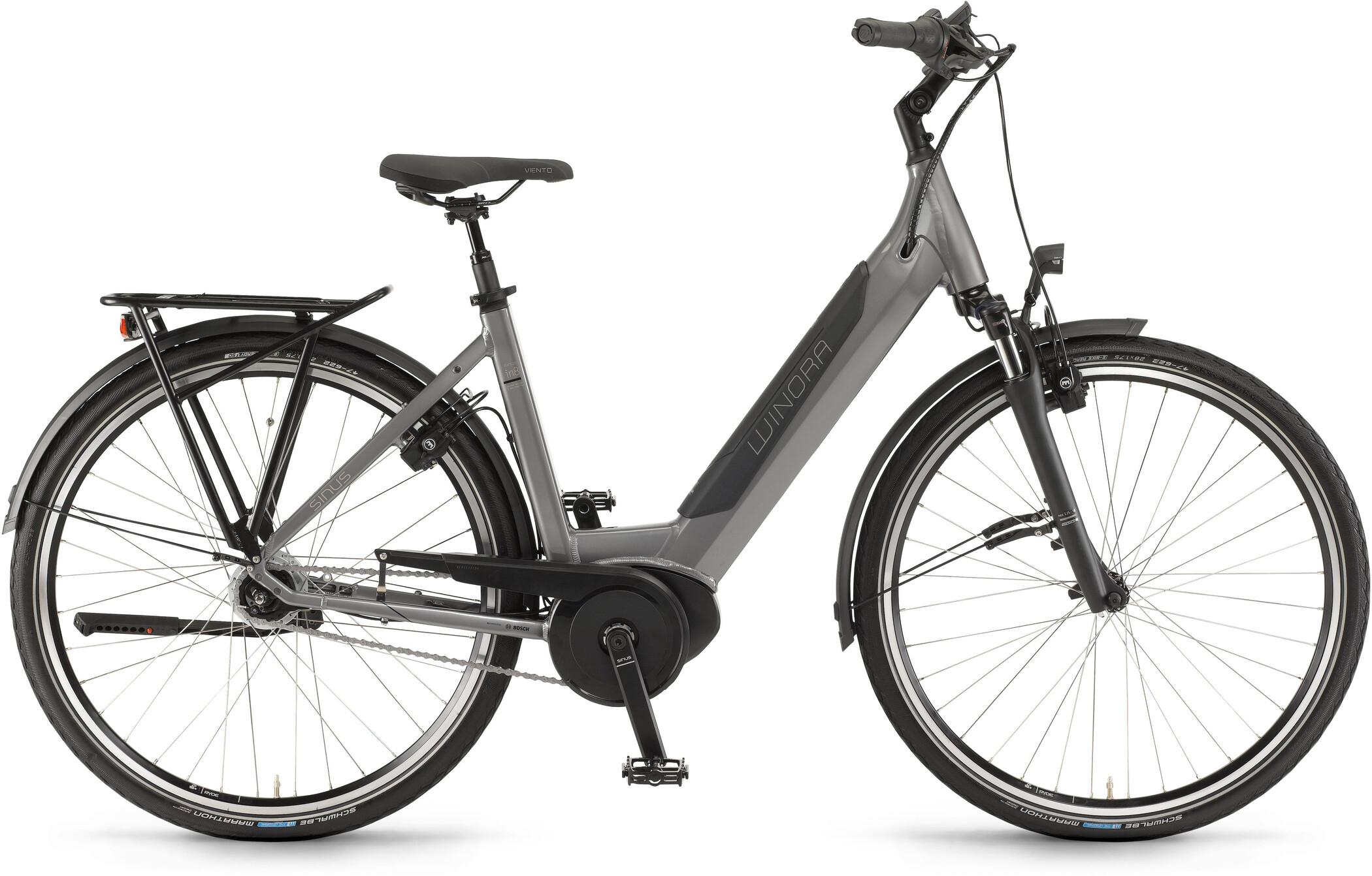 Winora Sinus iN8f Wave, moon grey (2020)   City-cykler