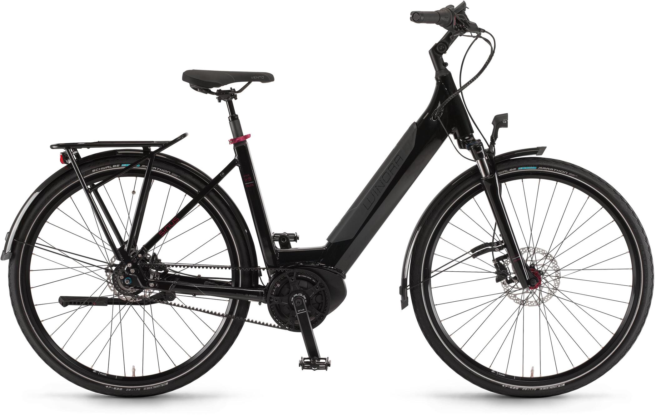Winora Sinus iR8 Wave, onyx black (2020)   City-cykler