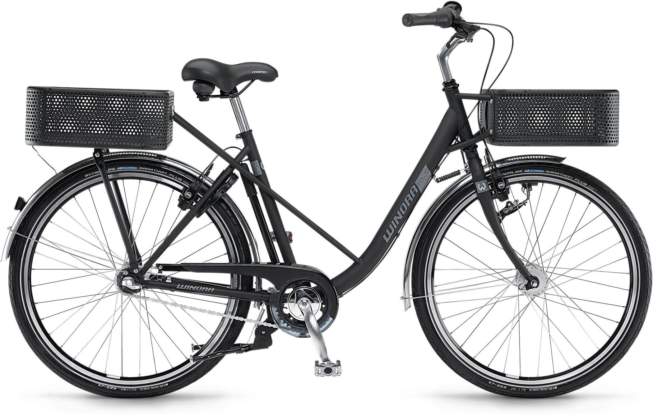 Winora Load Wave, black matte (2020)   City-cykler
