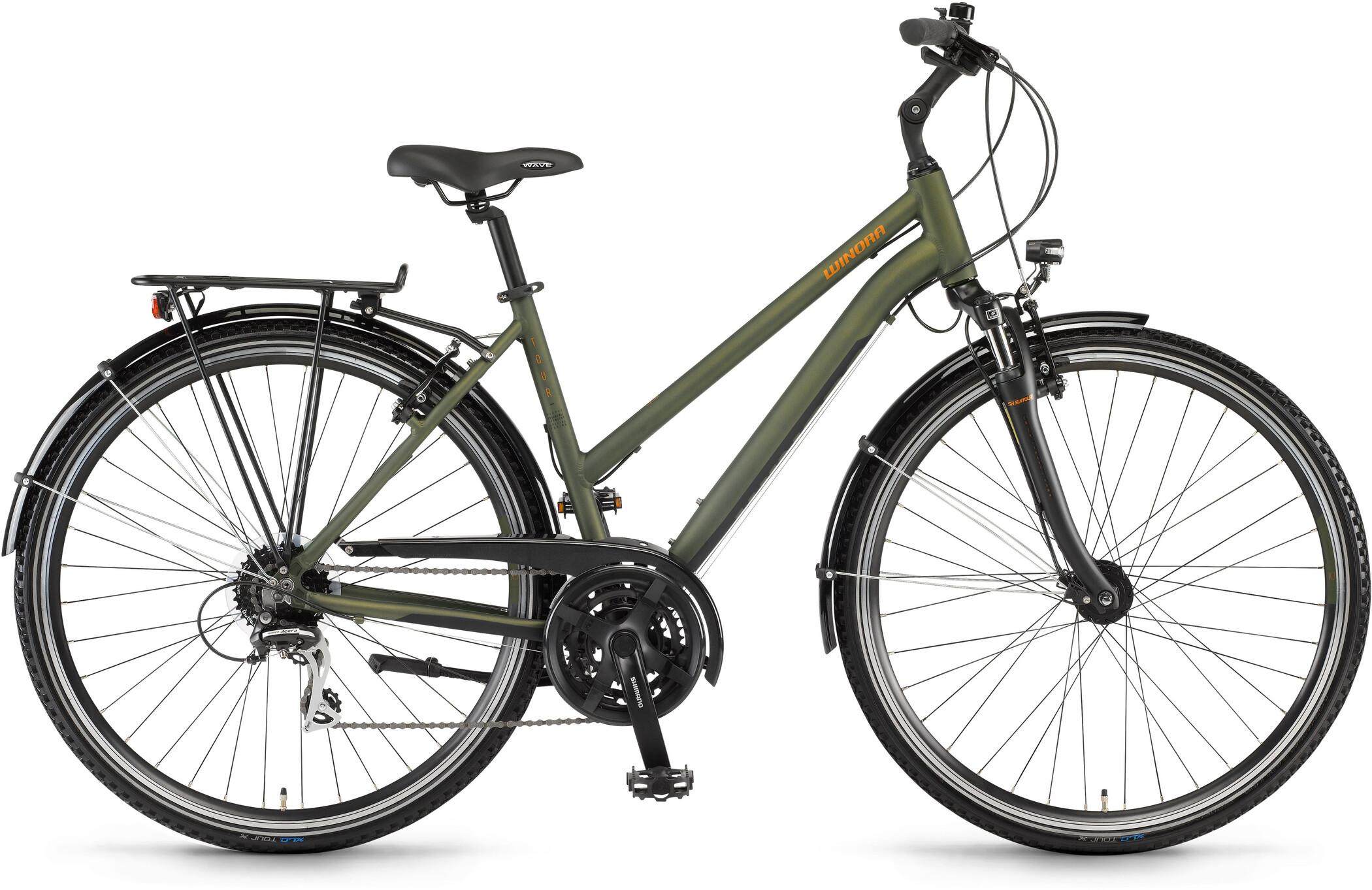 Winora Domingo 24 Damer, olive/black matte (2020)   City-cykler
