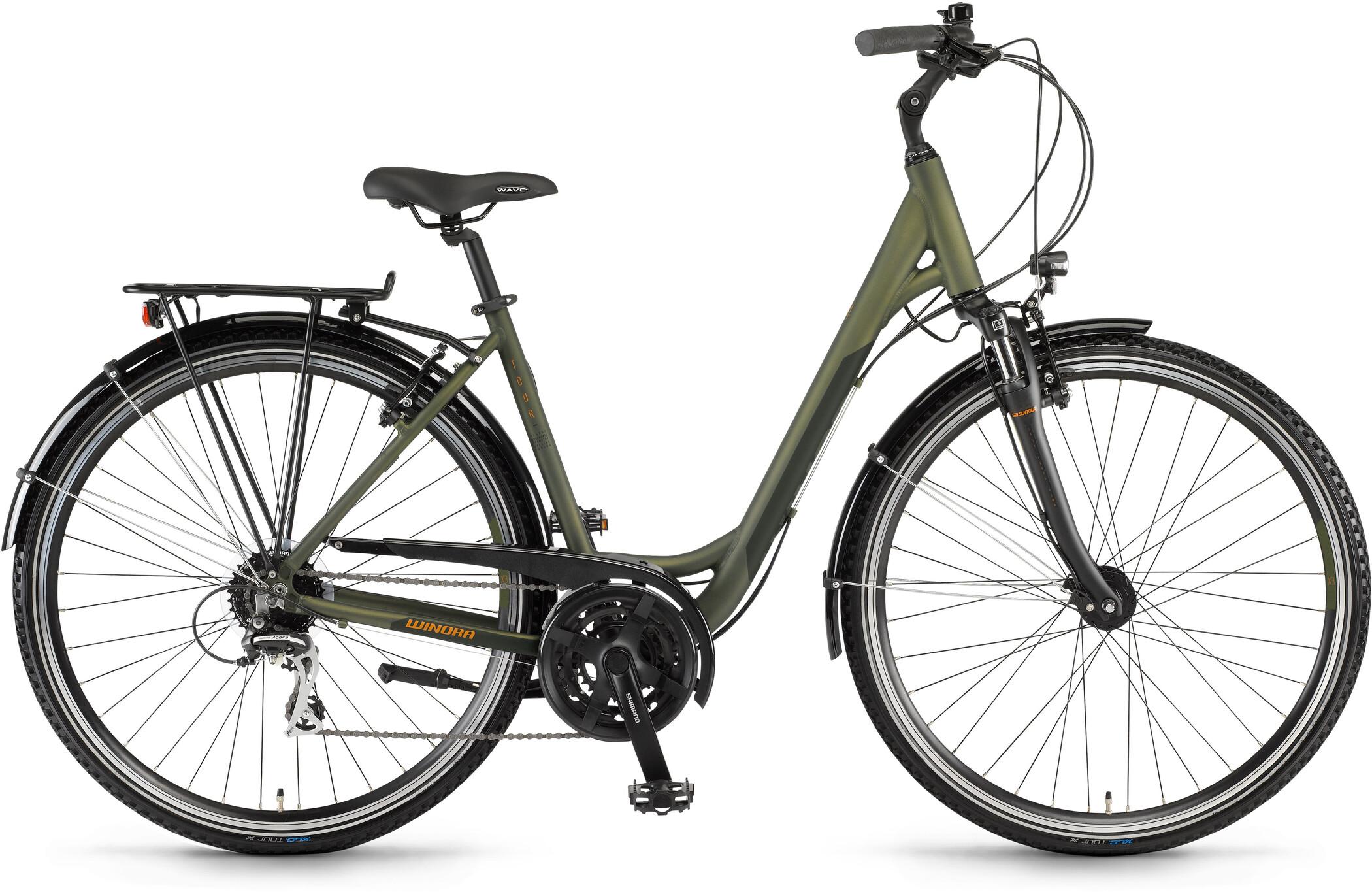 Winora Domingo 24 Wave, olive/black matte (2020)   City-cykler