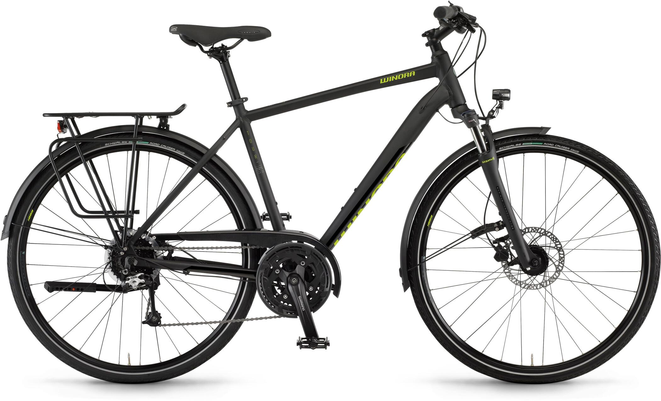 Winora Domingo 27 Disc Herrer, black matte (2020)   City-cykler