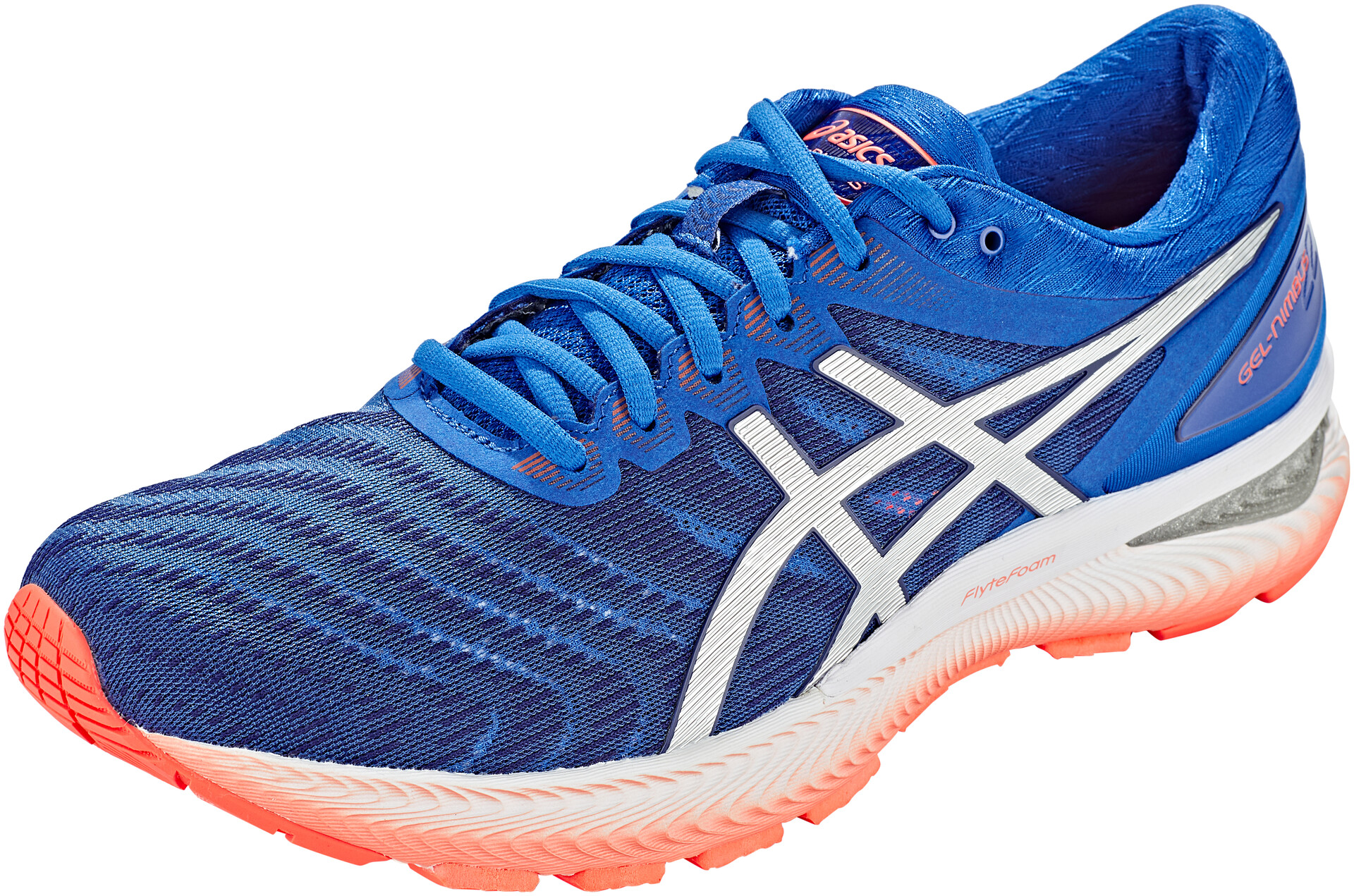 Asics Gel Nimbus 22 Mens Running Shoes Blue