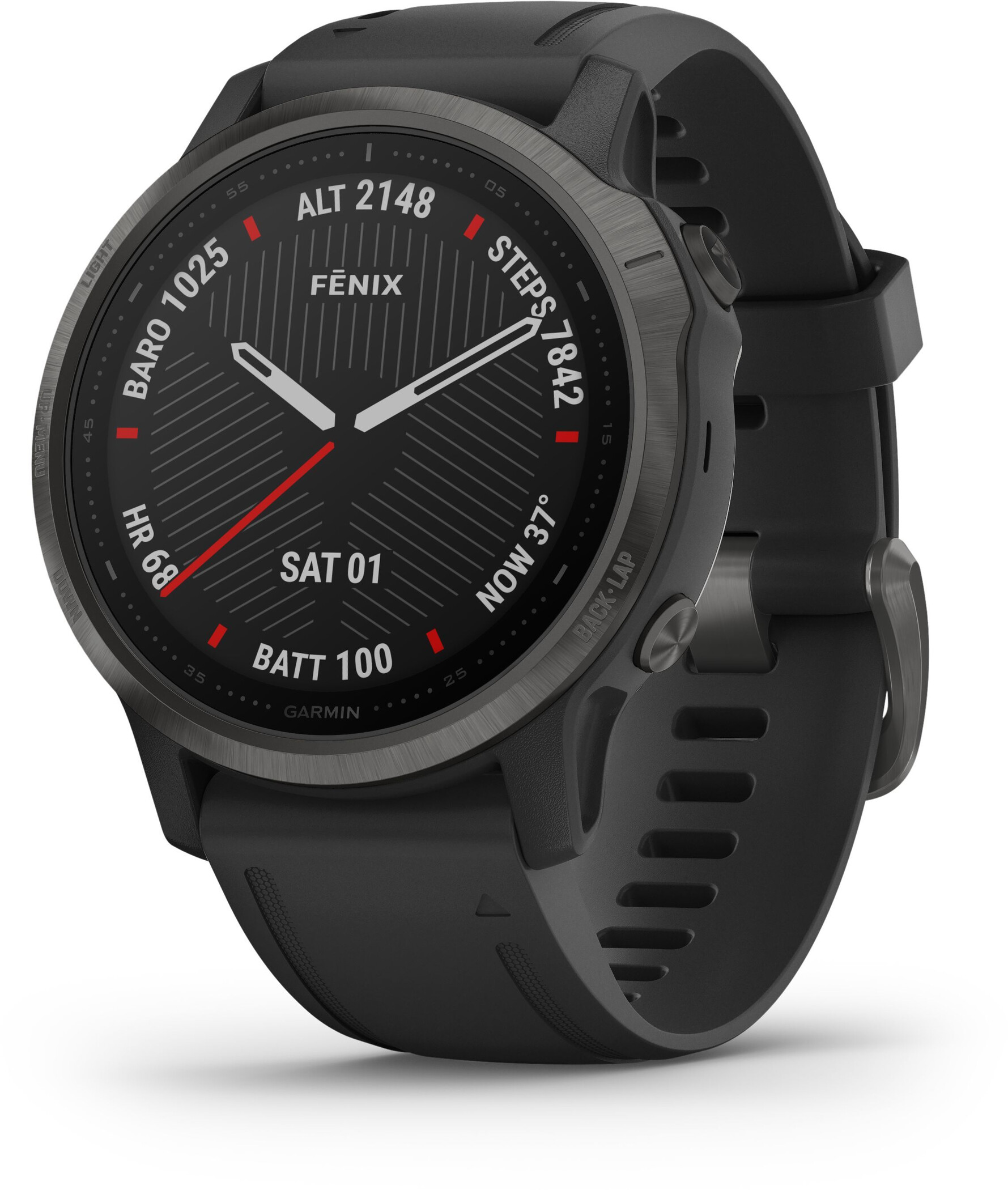 Garmin Fenix 6S Sapphire Multisport GPS Smartwatch, black (2020) | Pulsure