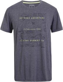 Icepeak Herren Freizeit-Outdoor-Wander-T-Shirt Saif grau-meliert blau