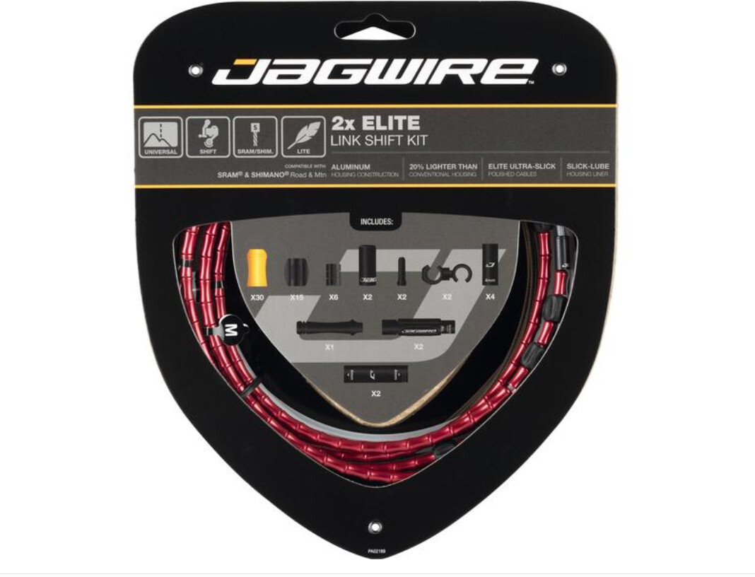 BICYCLE JAGWIRE HOUSING CABLE COMPLETE  KIT RED