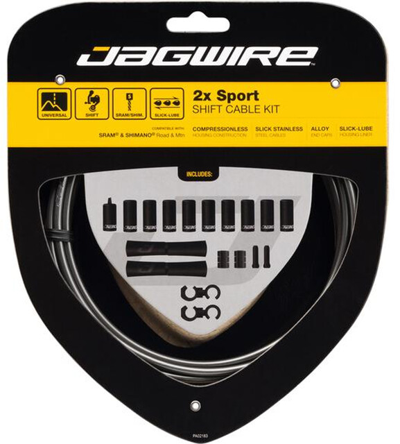 Jagwire 1x Pro Shift Kit Road//Mountain SRAM//Shimano Black