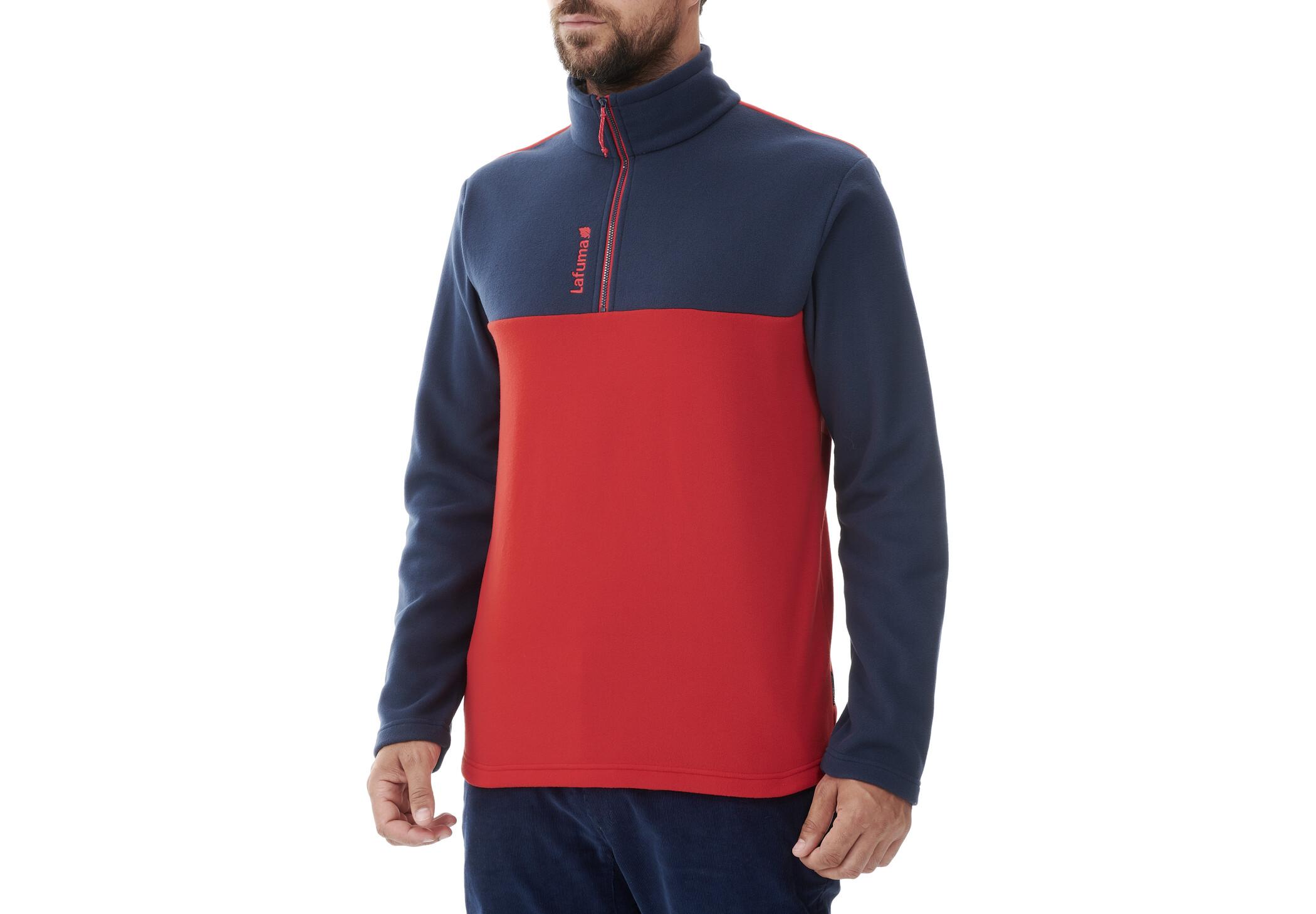 Lafuma Access Micro Half Zip Jacket Men Vibrant Red Eclipse Blue Campz Es