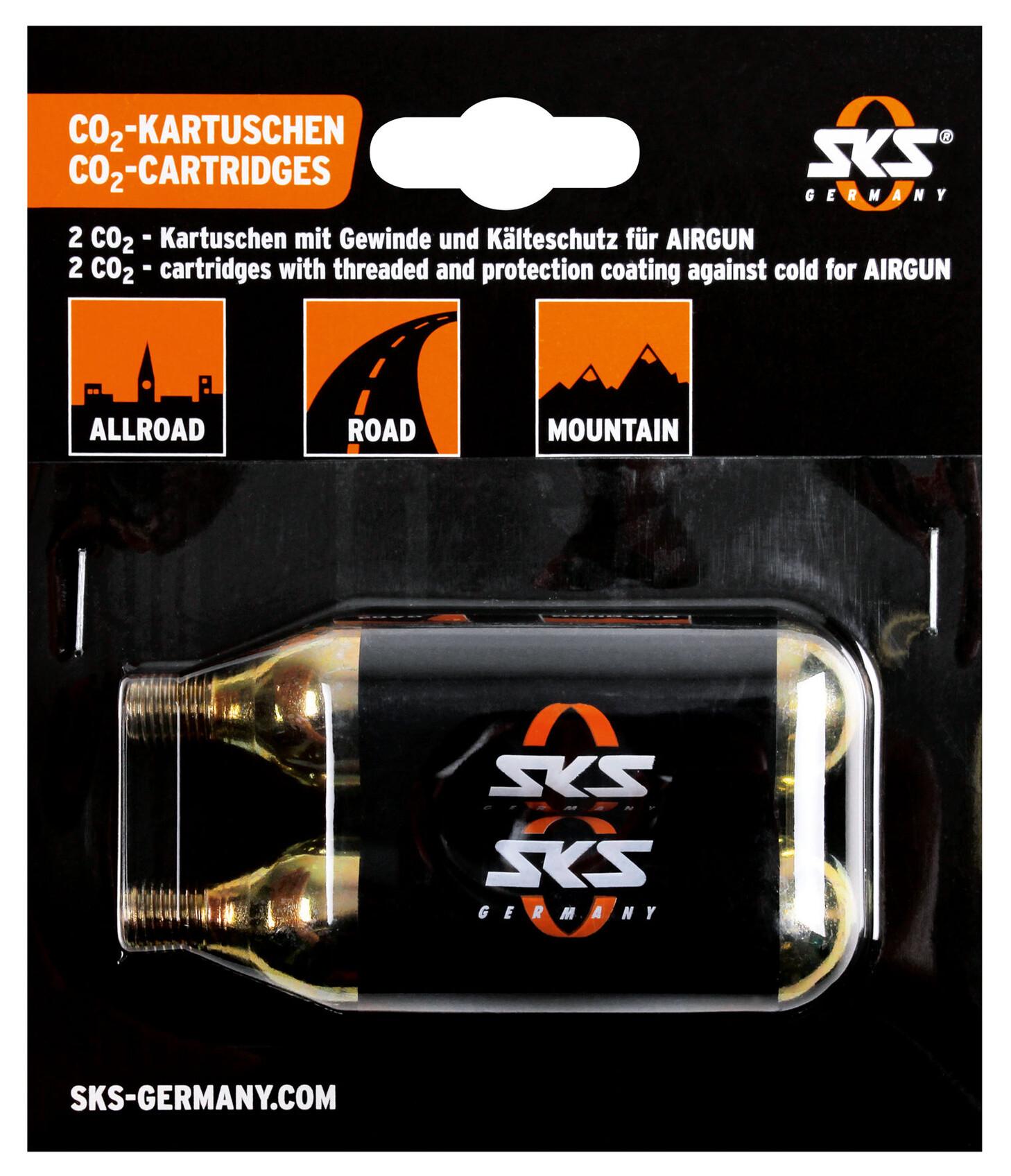 SKS CO2 Ekstra patroner-Sæt 2x16g til SKS-Airgun til SKS Airgun CO2, 2 stk. (2019) | item_misc