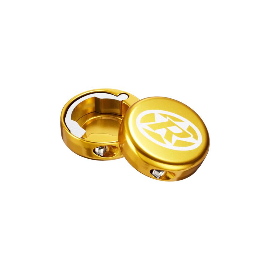 Reverse Lock-On Endekapper, gold | Styr