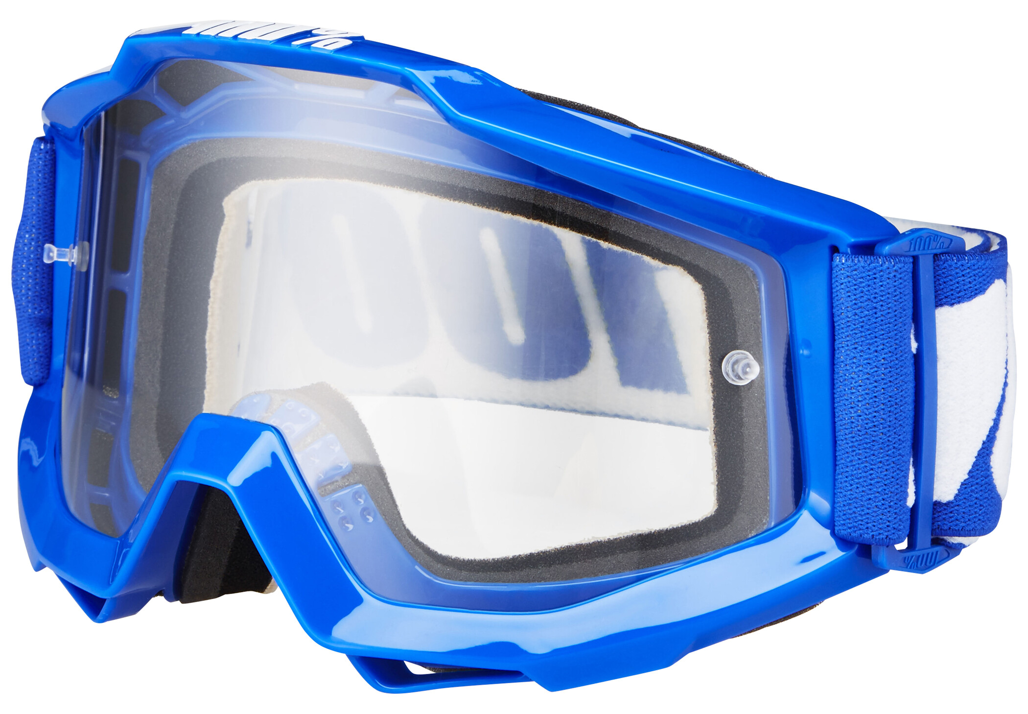 100% Accuri Anti Fog Clear Goggles, reflex blue | Briller