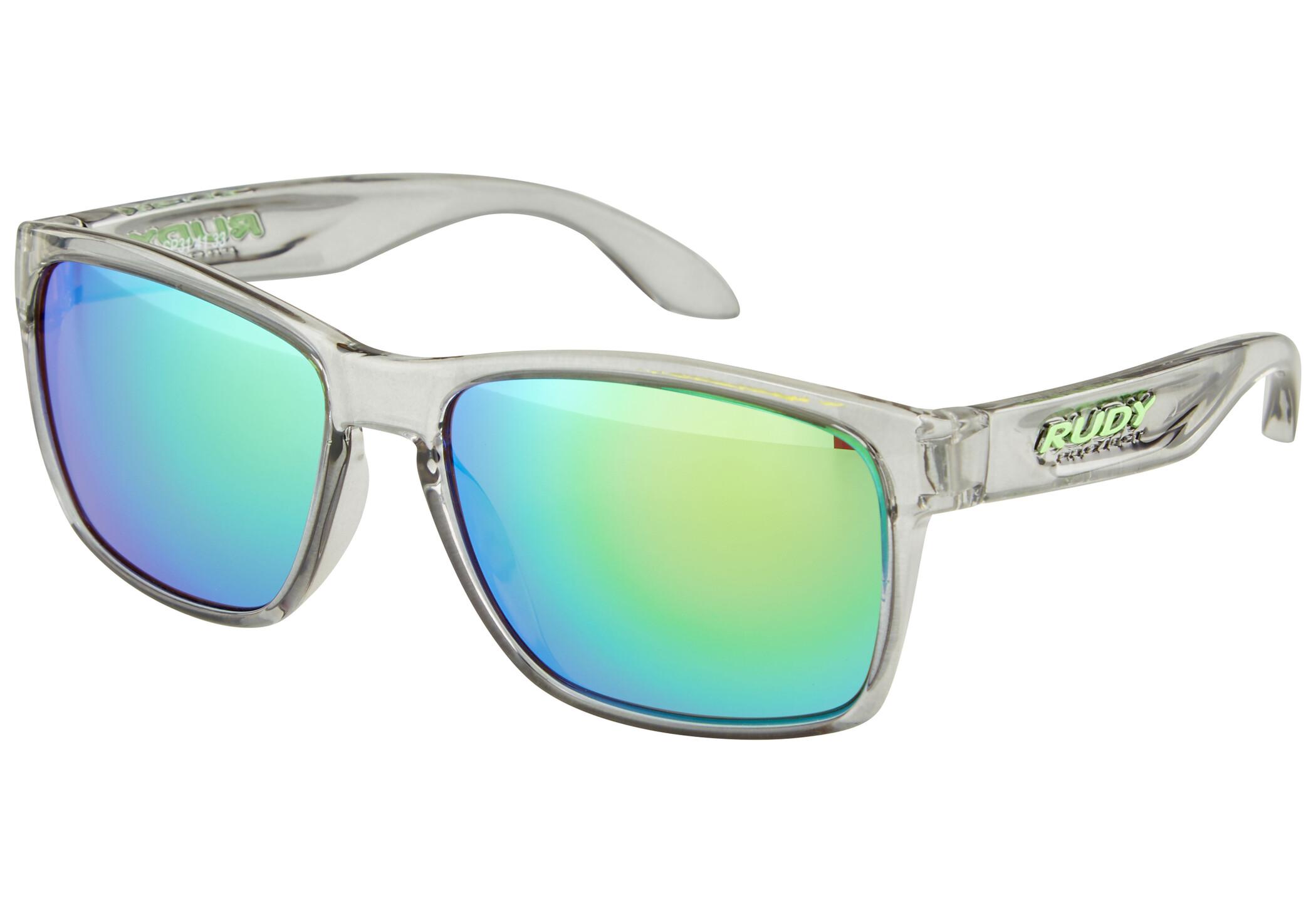 Rudy Project Spinhawk Cykelbriller, crystal ash - rp optics multilaser green | Briller