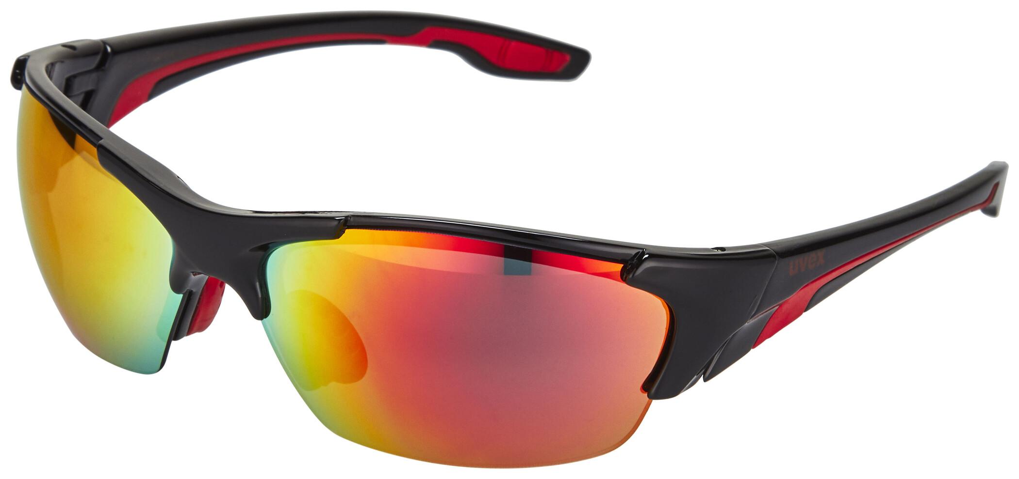 UVEX blaze lll Cykelbriller, black red (2019) | Glasses