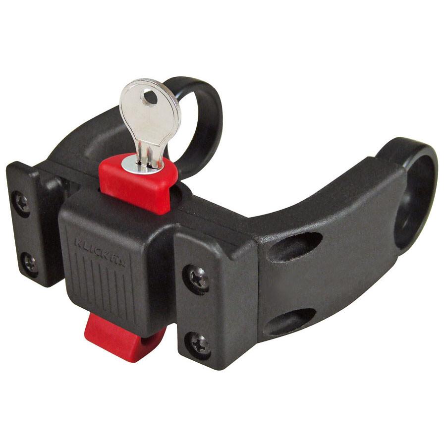 KlickFix E Styradapter med lås, black   Bags accessories