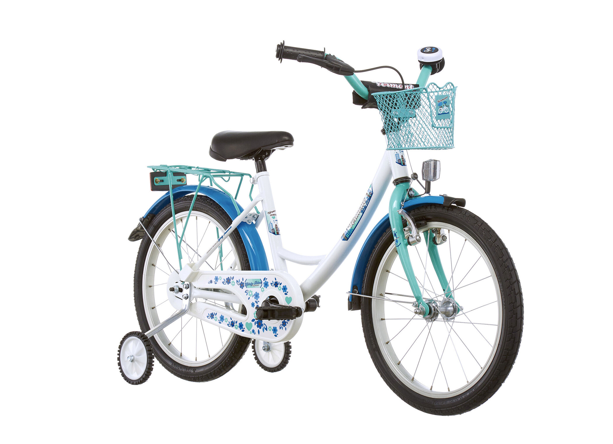 "Vermont Girly 18"" Børnecykel blå (2019) | City-cykler"