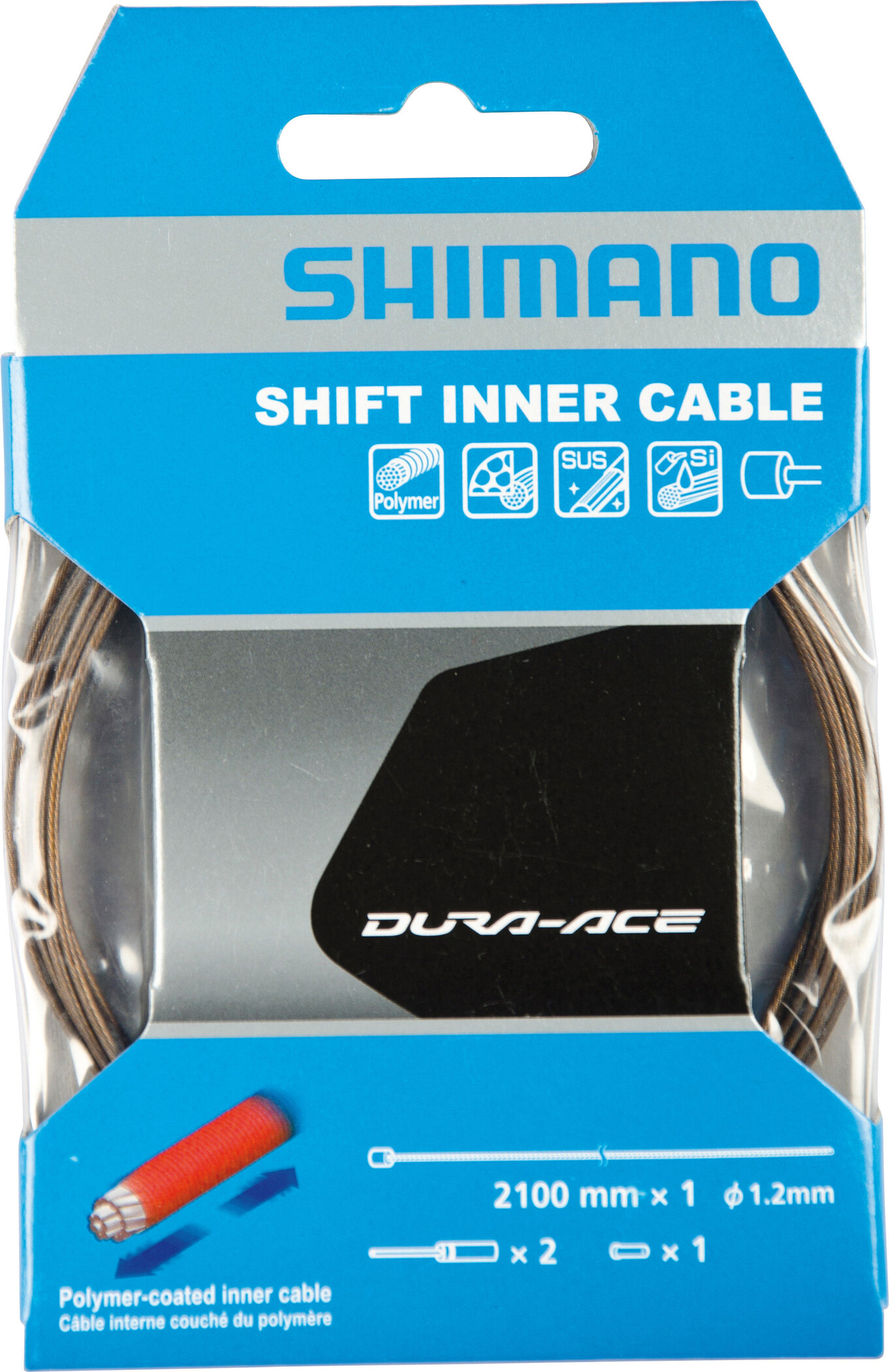 Shimano Dura-Ace Gearkabel Coated polymer, grey | Gear cables