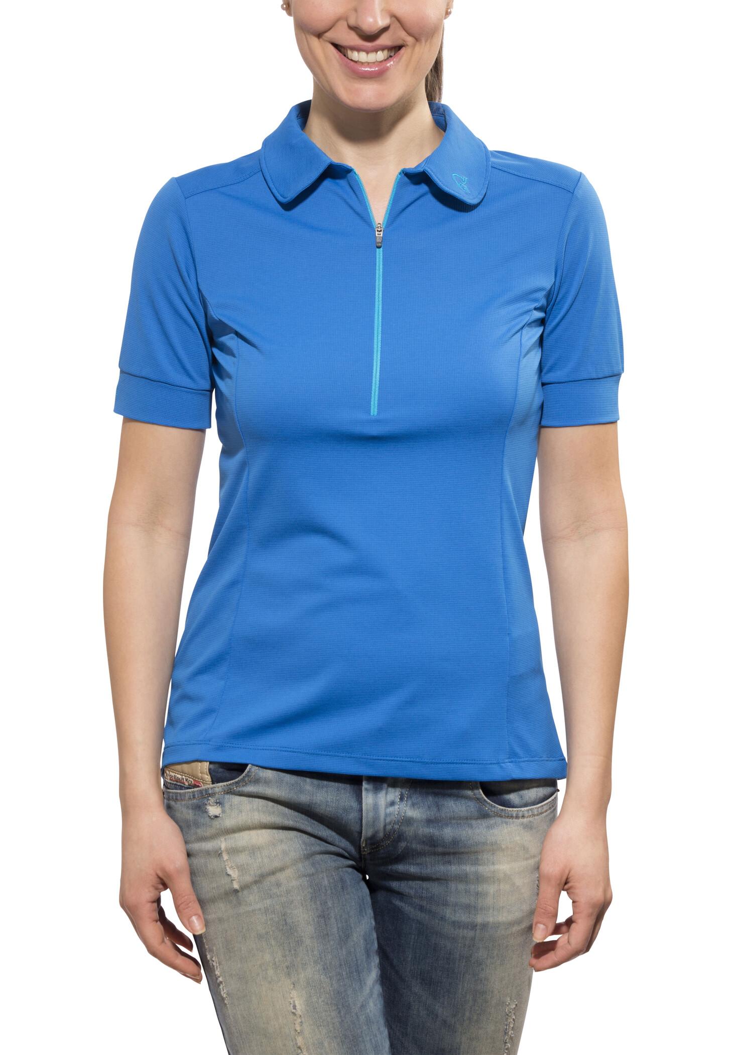 Norrøna fjørå equaliser lighweight T-shirt Damer, electric blue   Jerseys