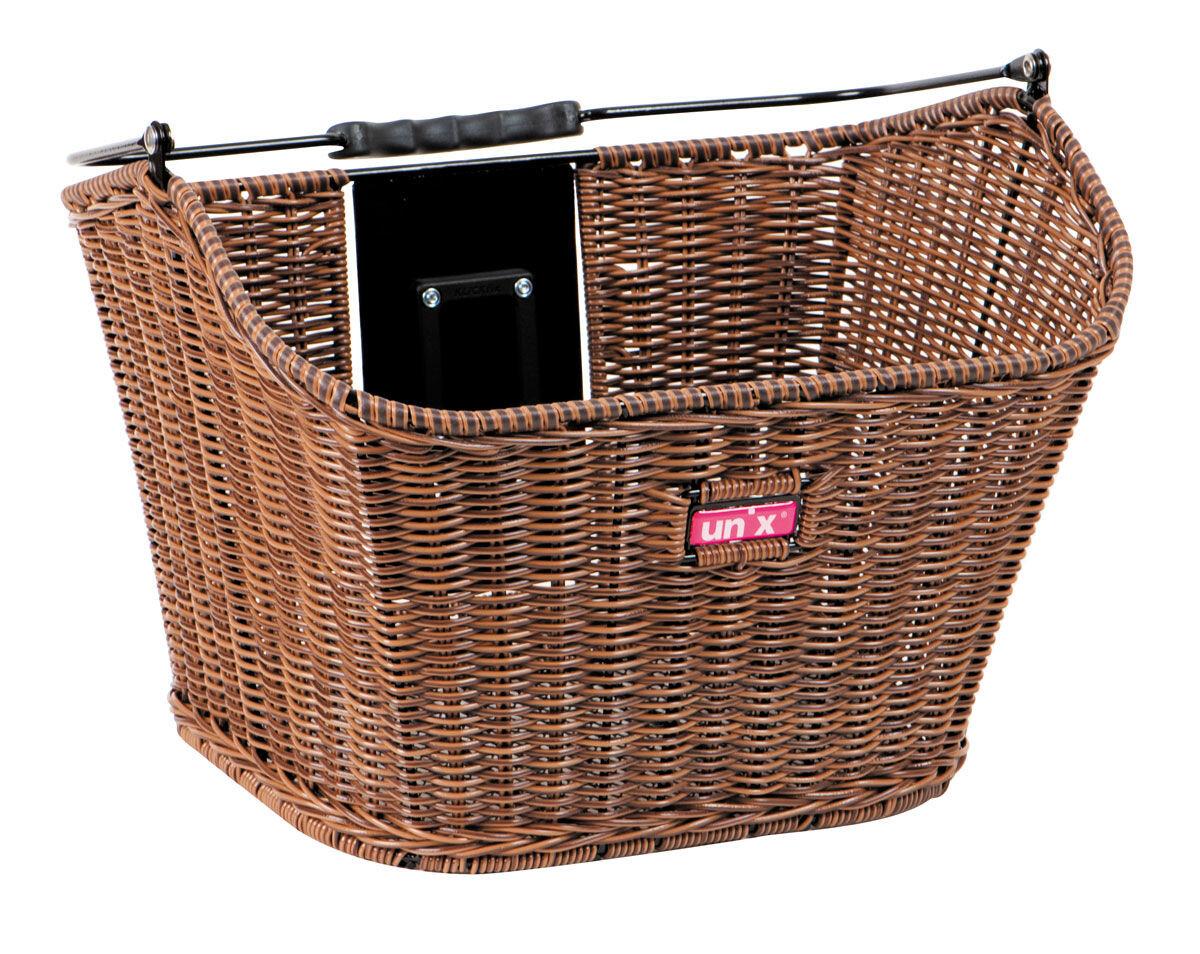 Unix Manolo Cykelkurv KlickFix, finely woven brown (2019) | Bike baskets