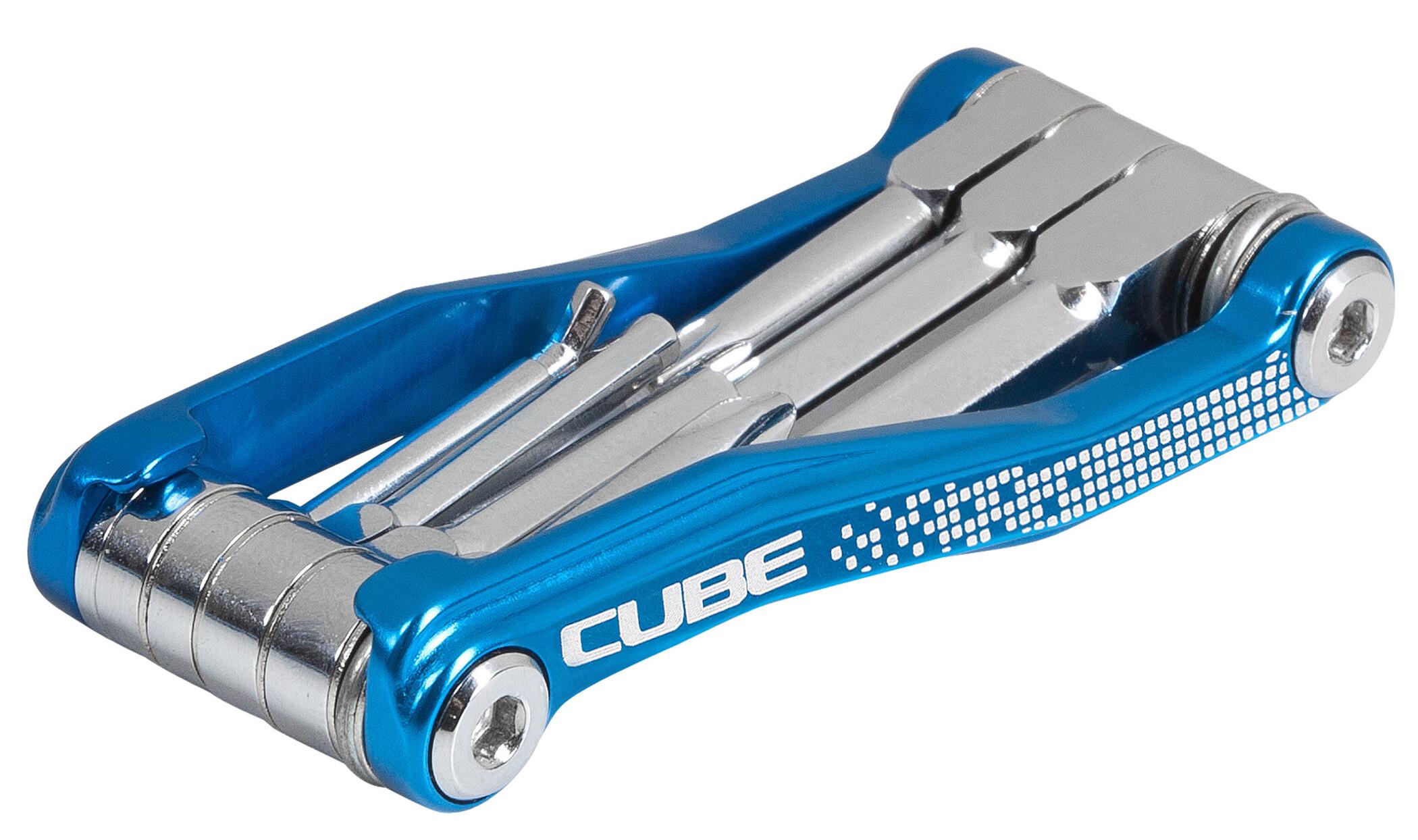 Cube Cubetool 7 in 1 Cykelværktøj, blue chrom (2019)   Multi- og miniværktøj