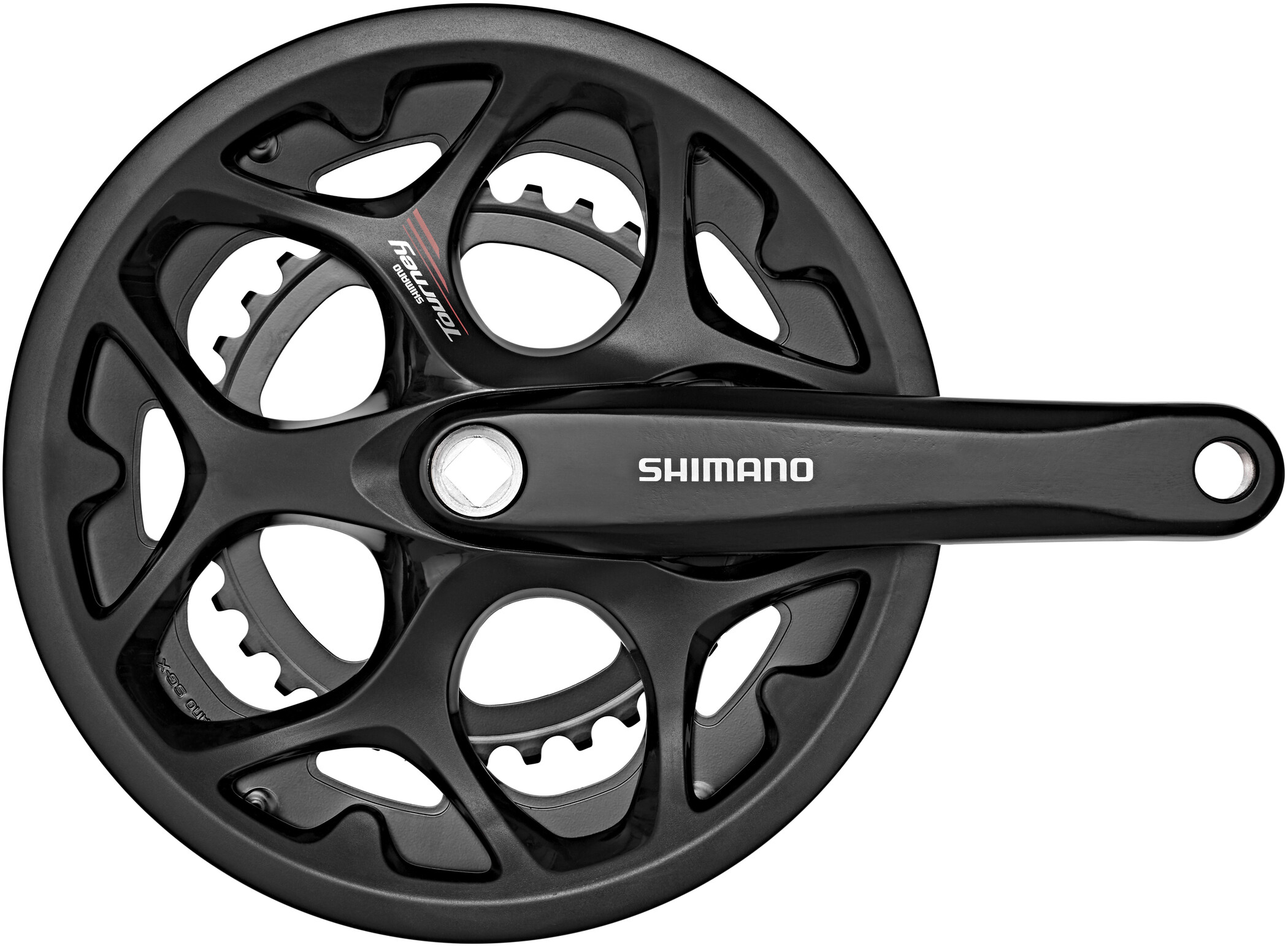 Shimano Tourney FC-A070 Krank 7/8 speed KSR, black (2019) | Kranksæt