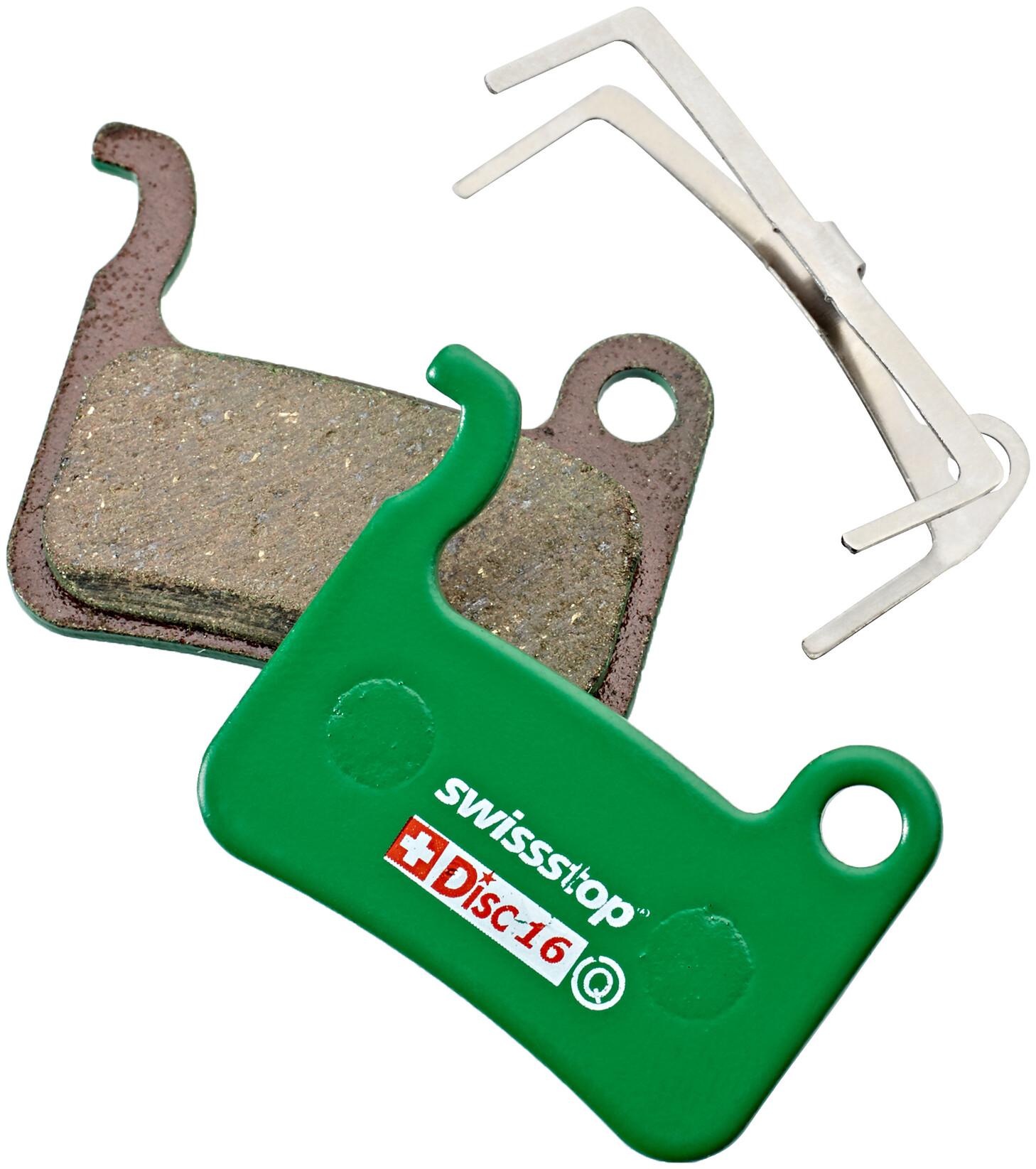 SwissStop Disc 16 Organic Bremseklodser Shimano TRP, green (2019) | Brake pads