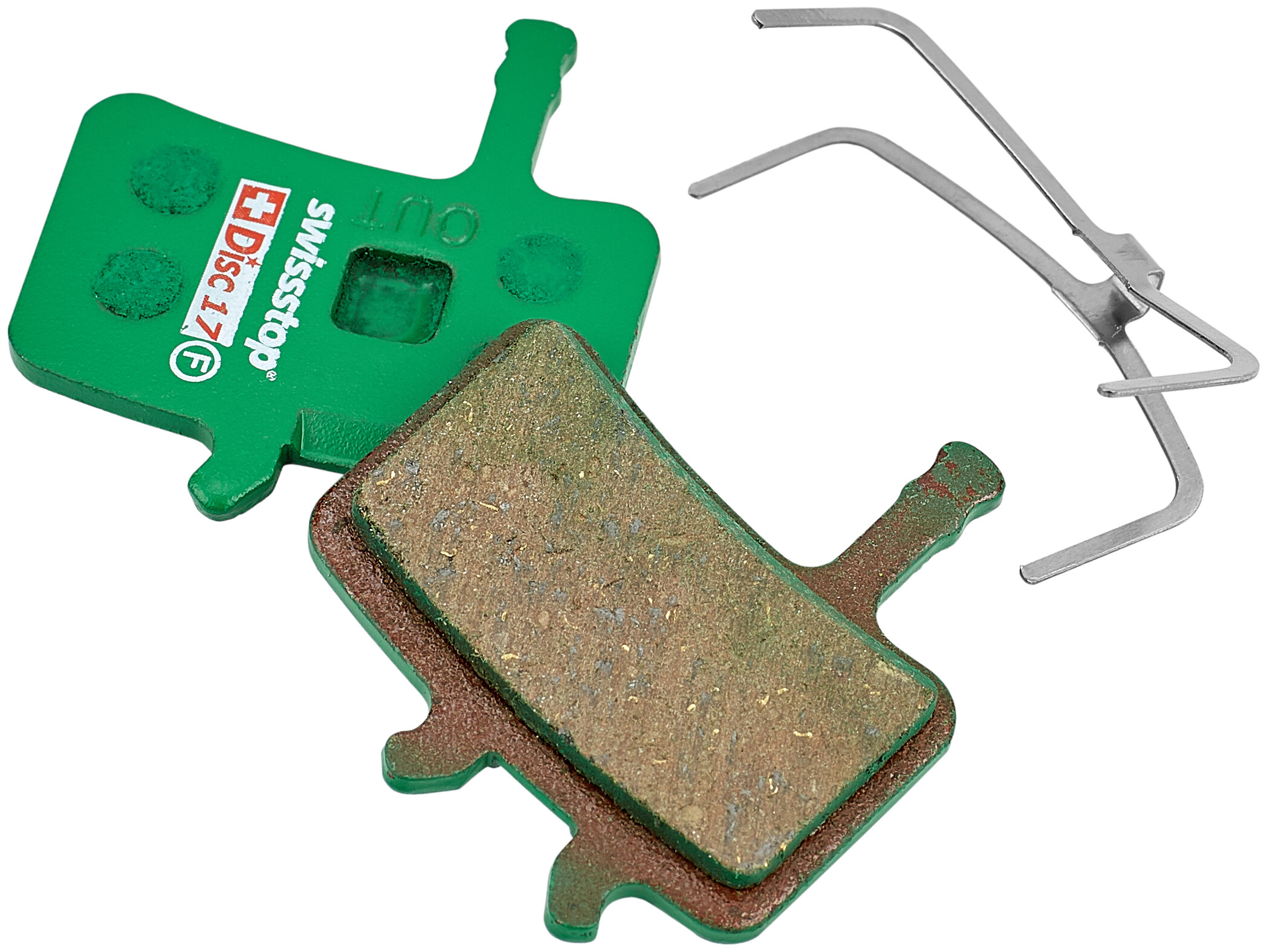 SwissStop Disc 17 Organic Bremseklodser Avid Juicy 3/5/7, BB7 mekanisk, green (2019) | Brake pads