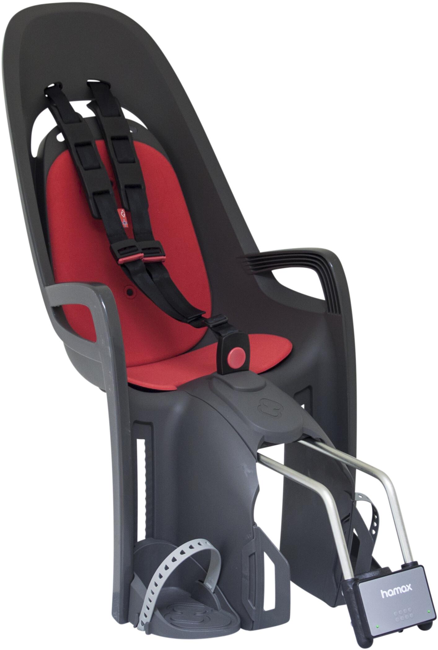 Hamax Zenith Barnestol, grey/red (2019) | Bike seat