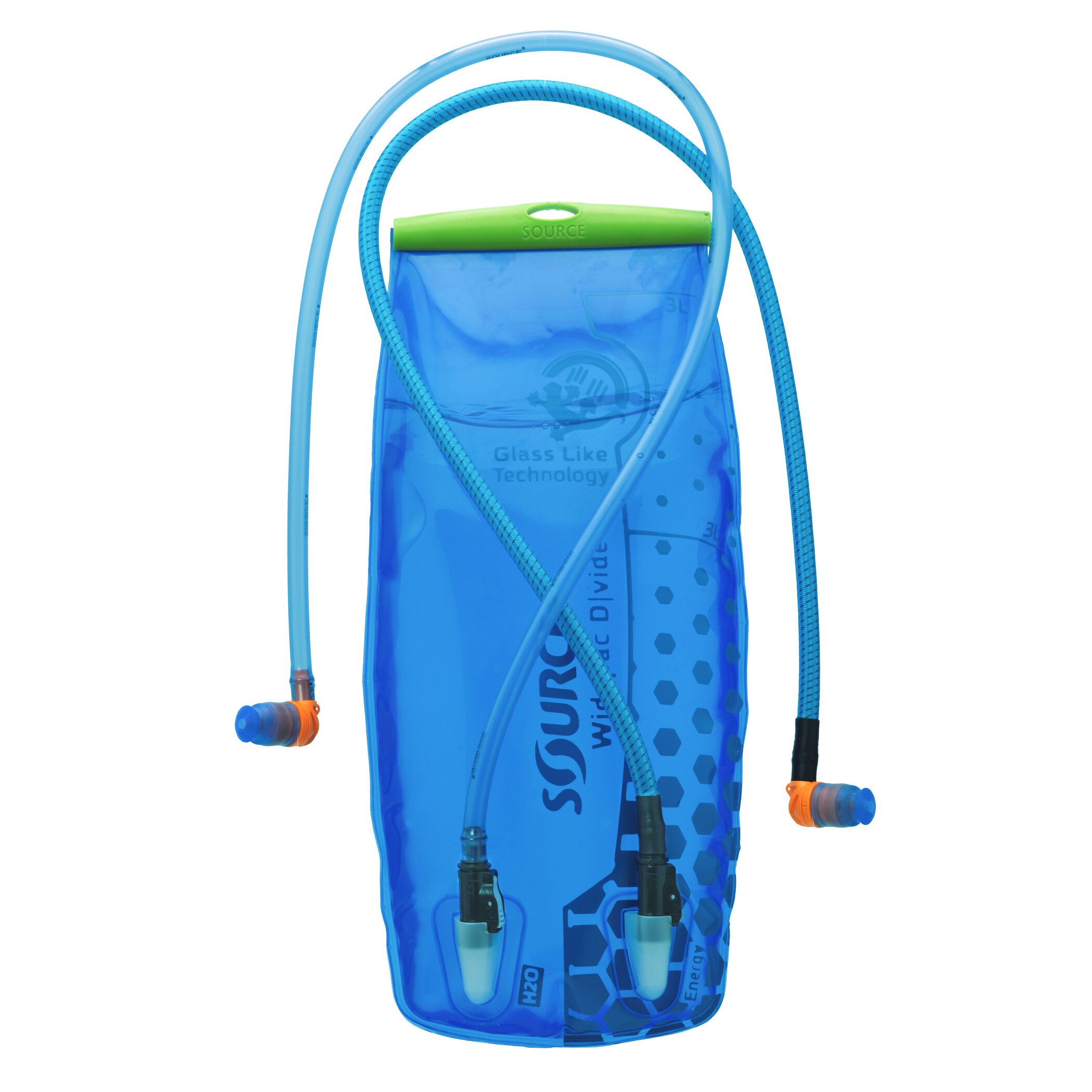 SOURCE Divide Widepac Hydration Bladder 3 liters, transparent-blue (2019) | item_misc