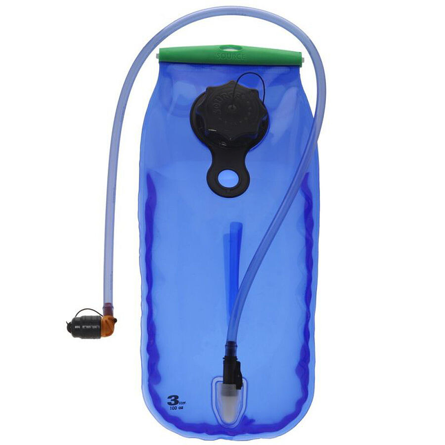 SOURCE WXP LP Hydration Bladder 3 liters, transparent-blue (2019) | Rygsæk og rejsetasker
