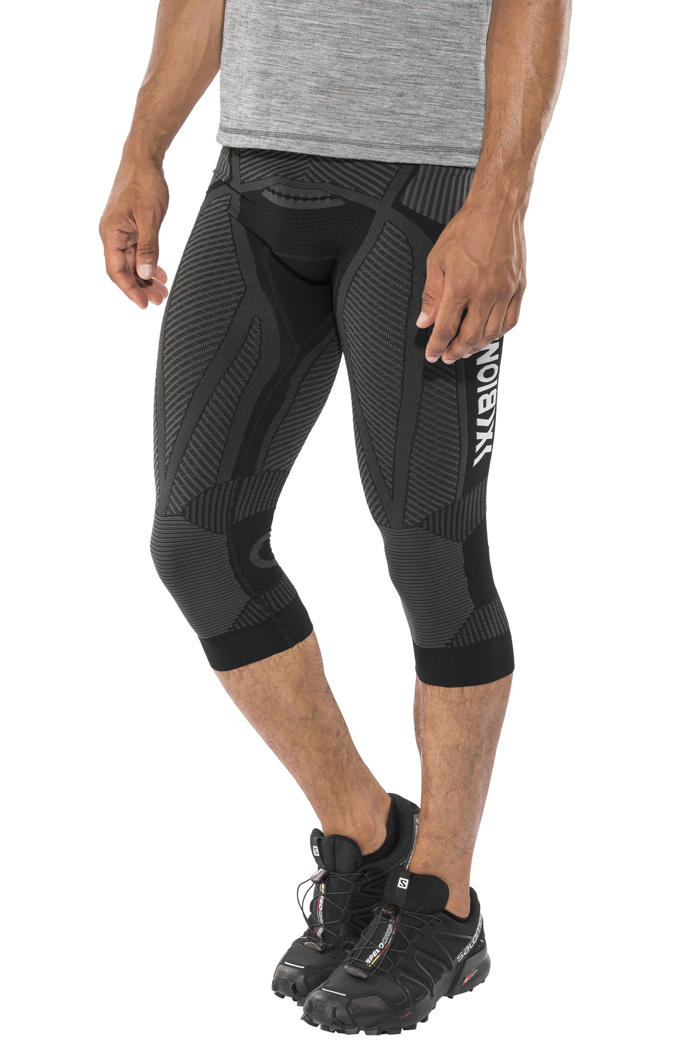X-Bionic The Trick Running Pants size M Men, black/anthracite | Trousers