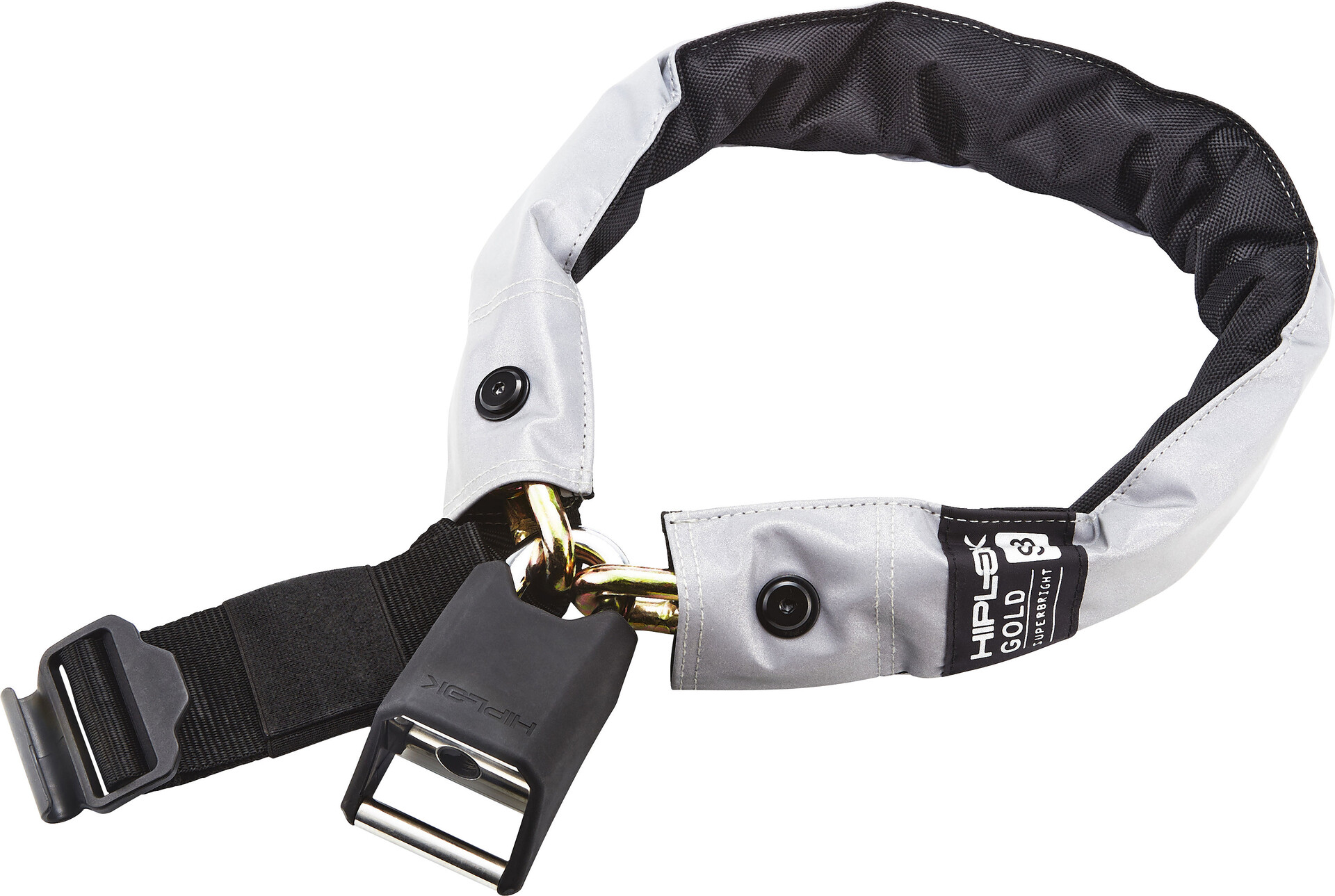 Hiplok Lite V1.0 Chain Lock Wearable Bicycle ULock BLACK