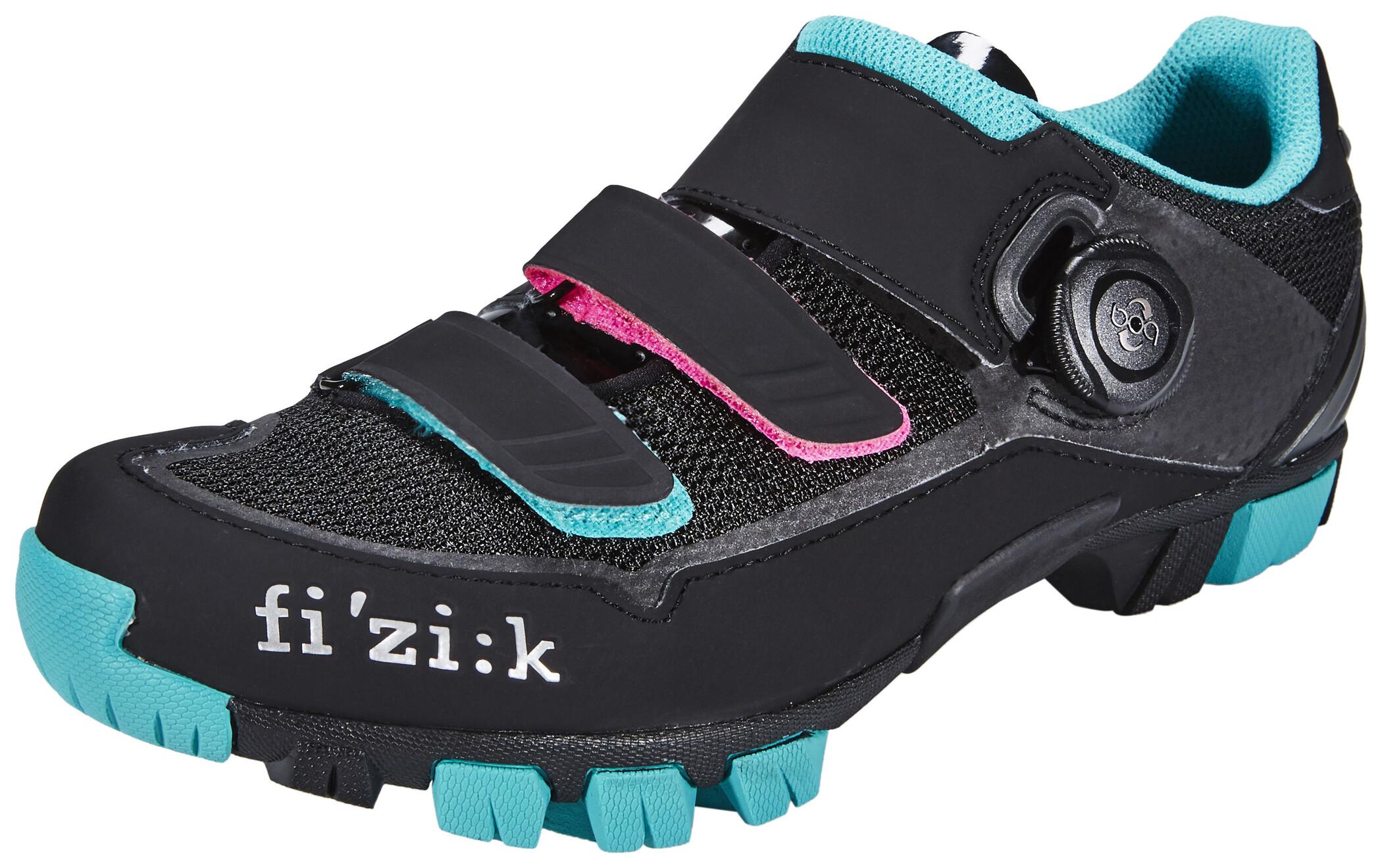 Fizik M6B MTB sko Damer, black/anthracite/green (2019) | Shoes and overlays