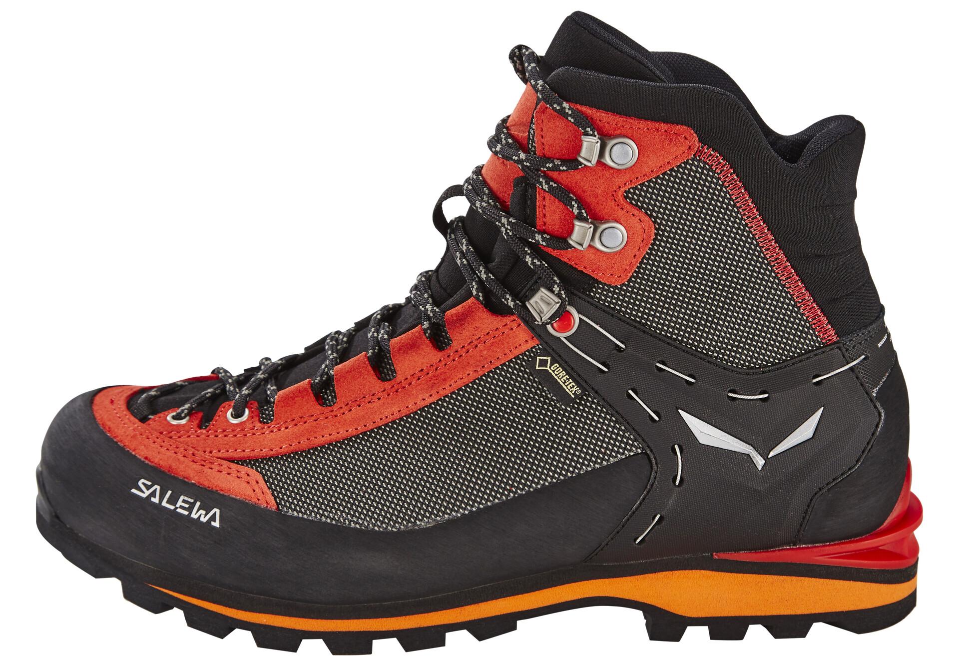 Salewa Crow GTX Mountaineering Boot Mens Black//Papavero