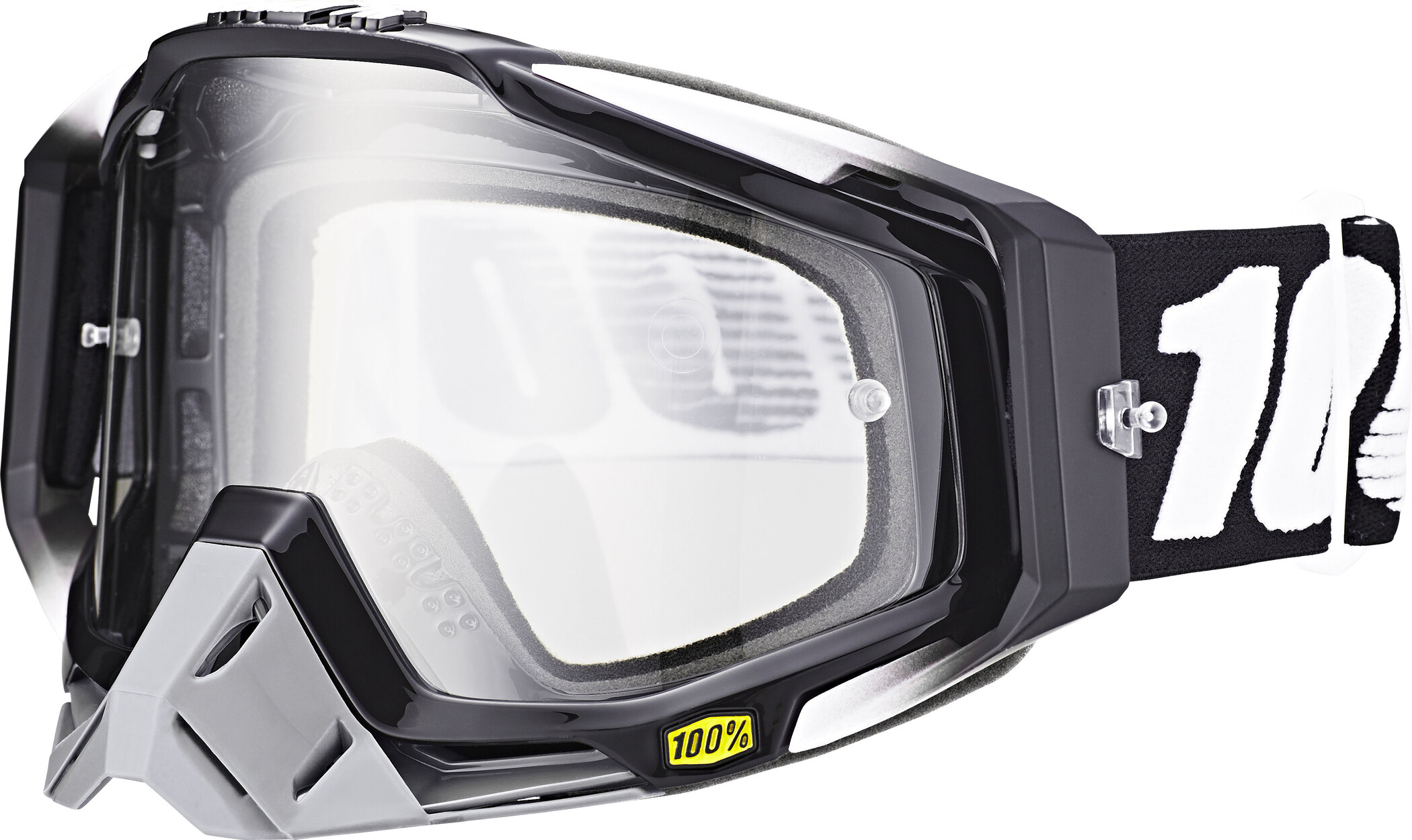 100% Racecraft Anti Fog Clear Goggles, abyss black (2019) | Glasses