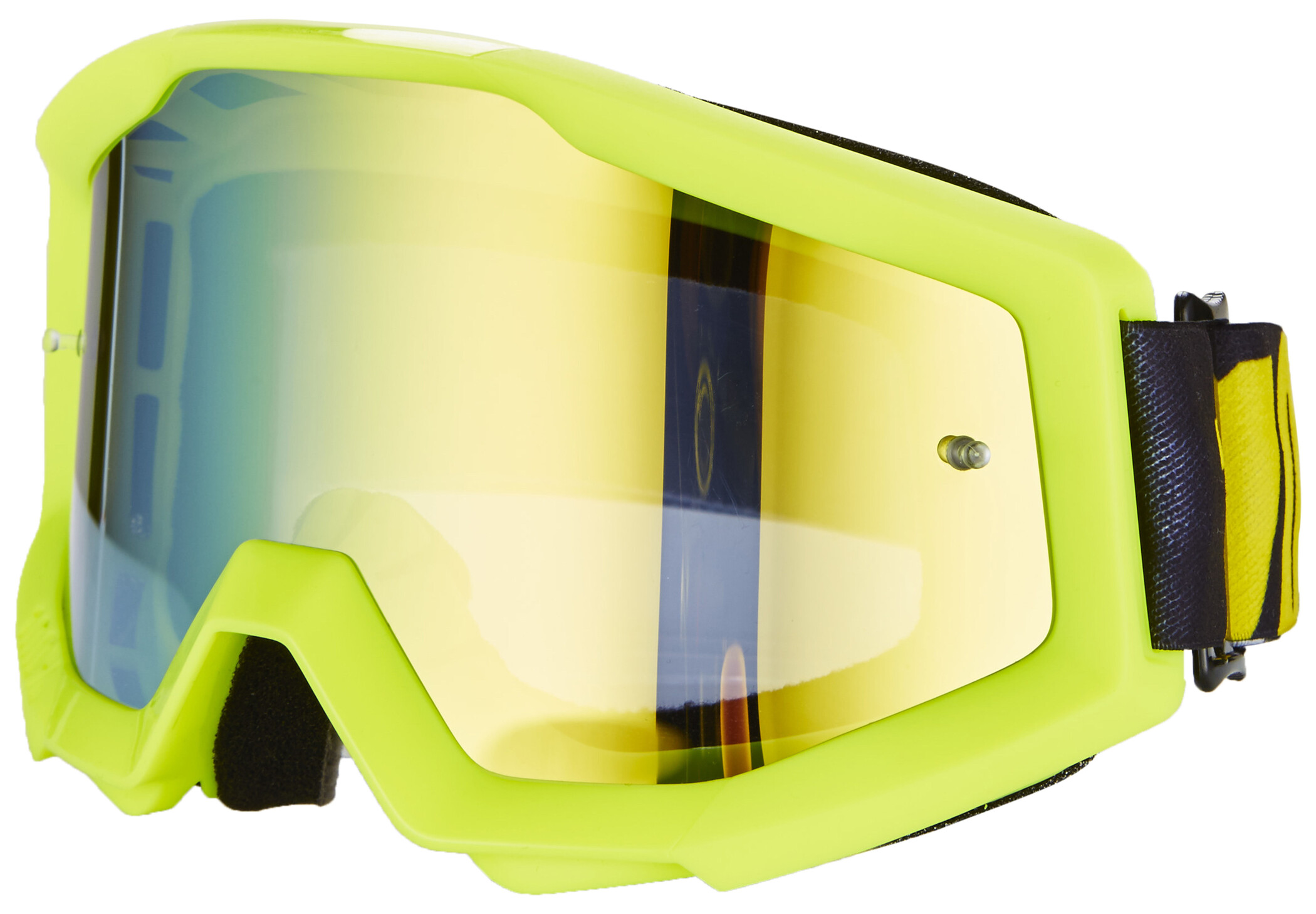 100% Strata Goggles, neon yellow-mirror (2019) | Glasses
