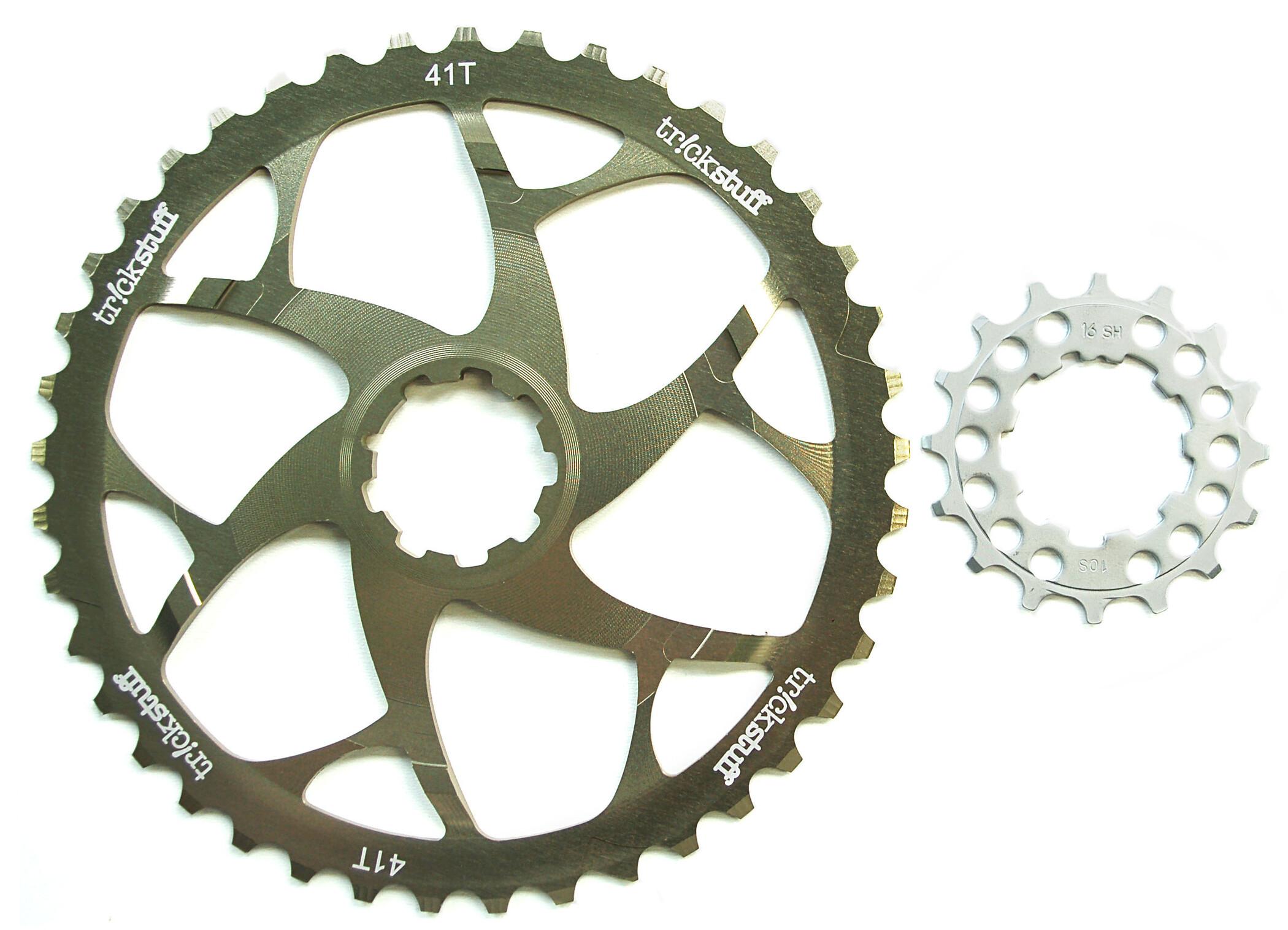 Trickstuff klinge Klinger inkl. kædehjul med 16-tænder, silver | Klinger