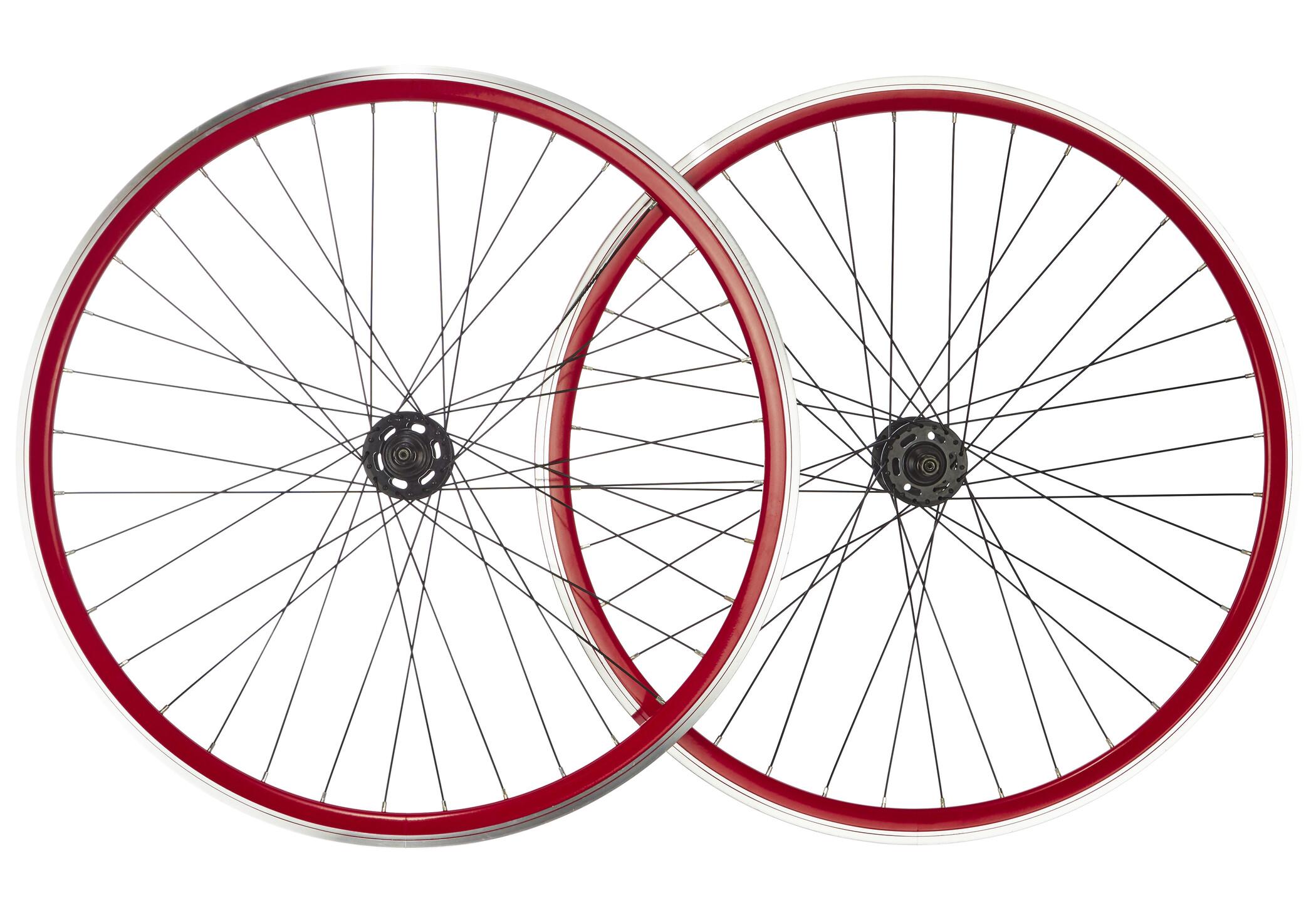 """Point SingleSpeed Wheelset 28"""", red/black (2019)   Wheelset"""