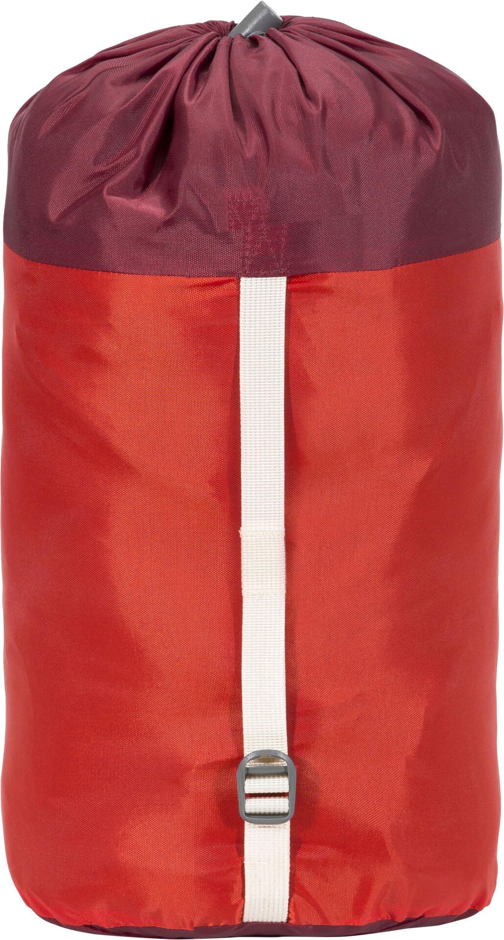 VAUDE Sioux 400 SYN Sleeping Bag-Dark Indian Red Right Zip