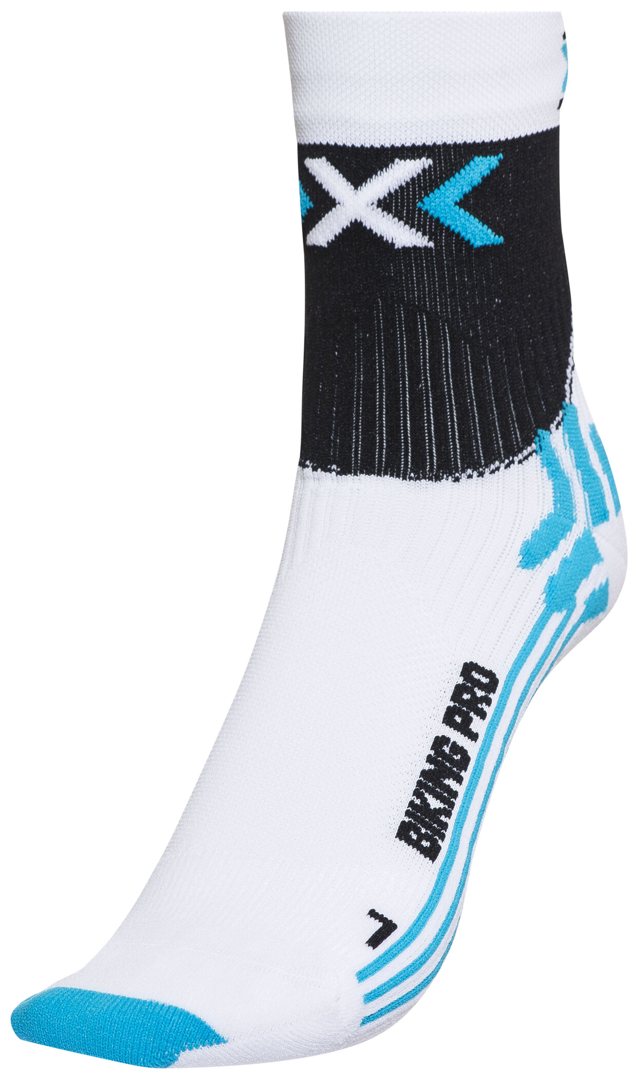 X-Socks Biking Pro Strømper Damer, white/turquoise | Socks