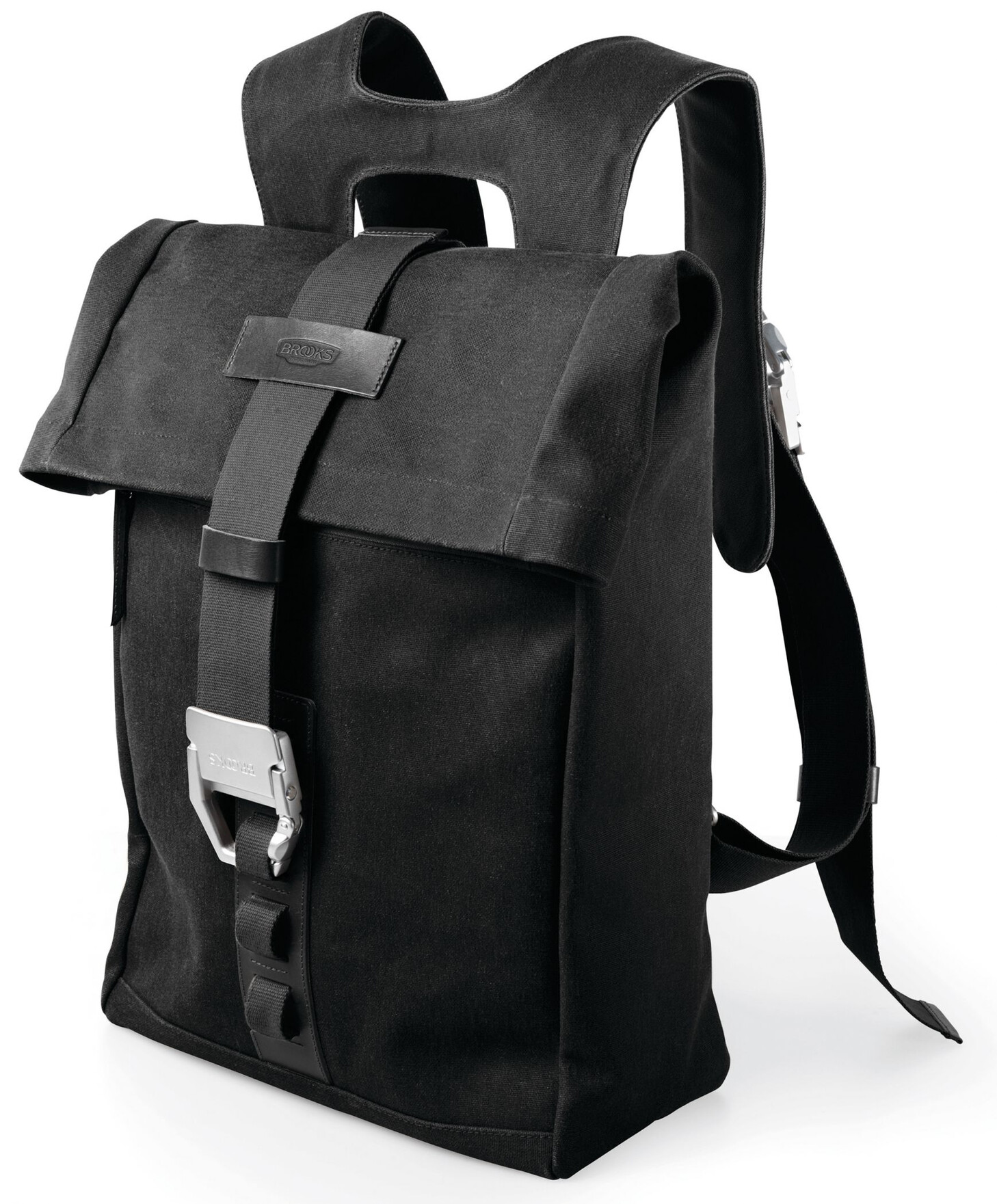 Brooks Islington Backpack Canvas 22-30 L, total black | Travel bags