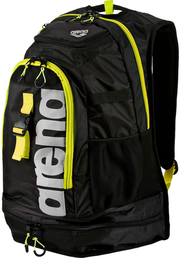 arena Fastpack 2.1 Svømmerygsæk 45L, black/fluo-yellow/silver   swim_clothes