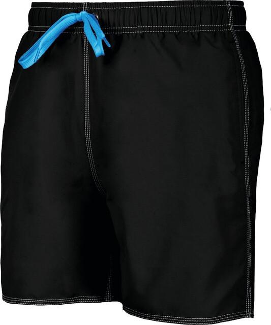 Arena Mens Solid Swim Shorts Black//White